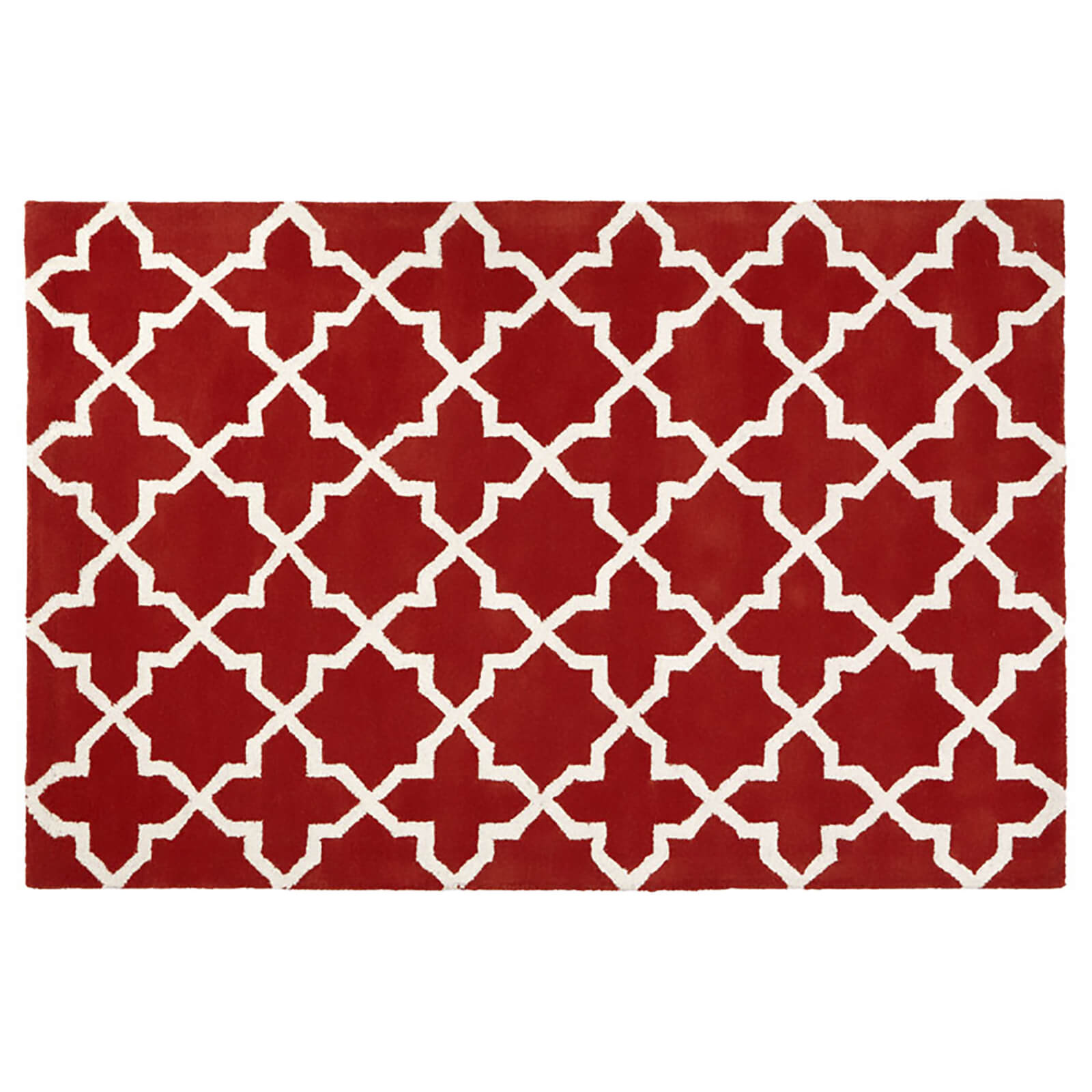 Fifty Five South Kensington Townhouse Cotton/Wool Mix Rug - Orange/White