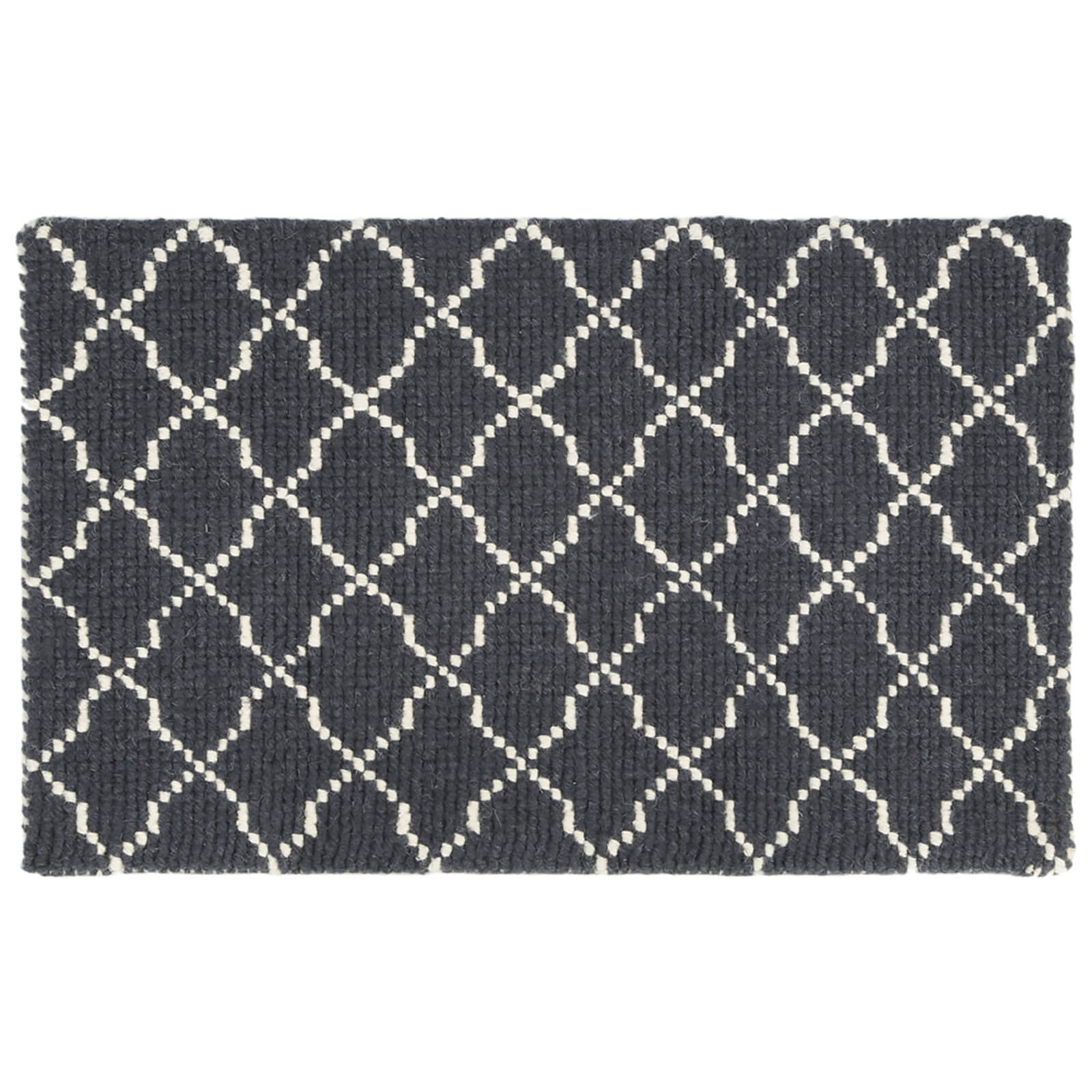 Fifty Five South Kensington Townhouse Cotton/Wool Mix Rug - Grey/White