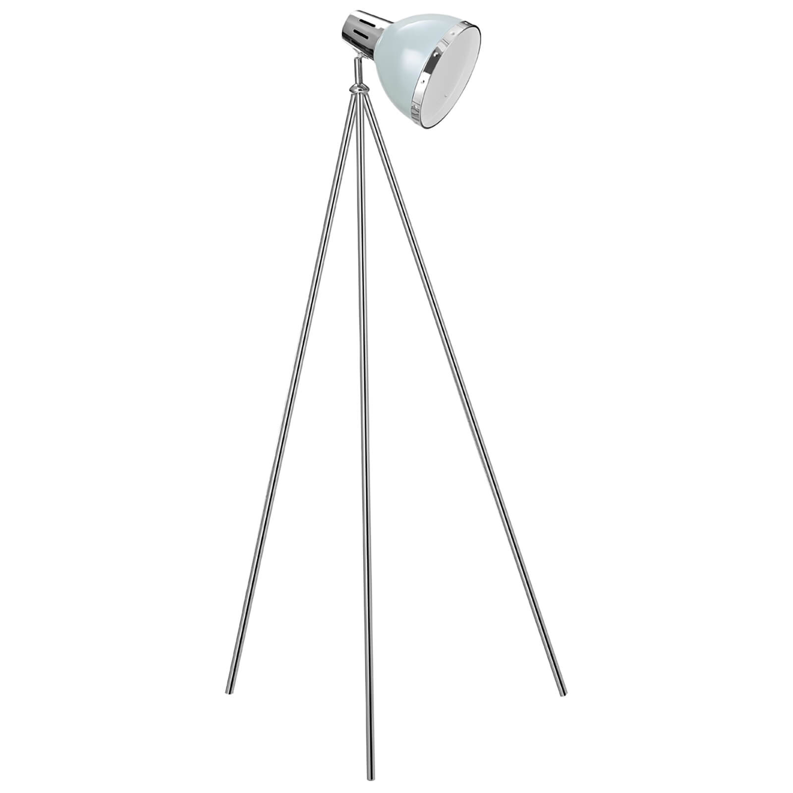 Fifty Five South Vermont Spotlight Floor Lamp - Shutter Blue/Chrome