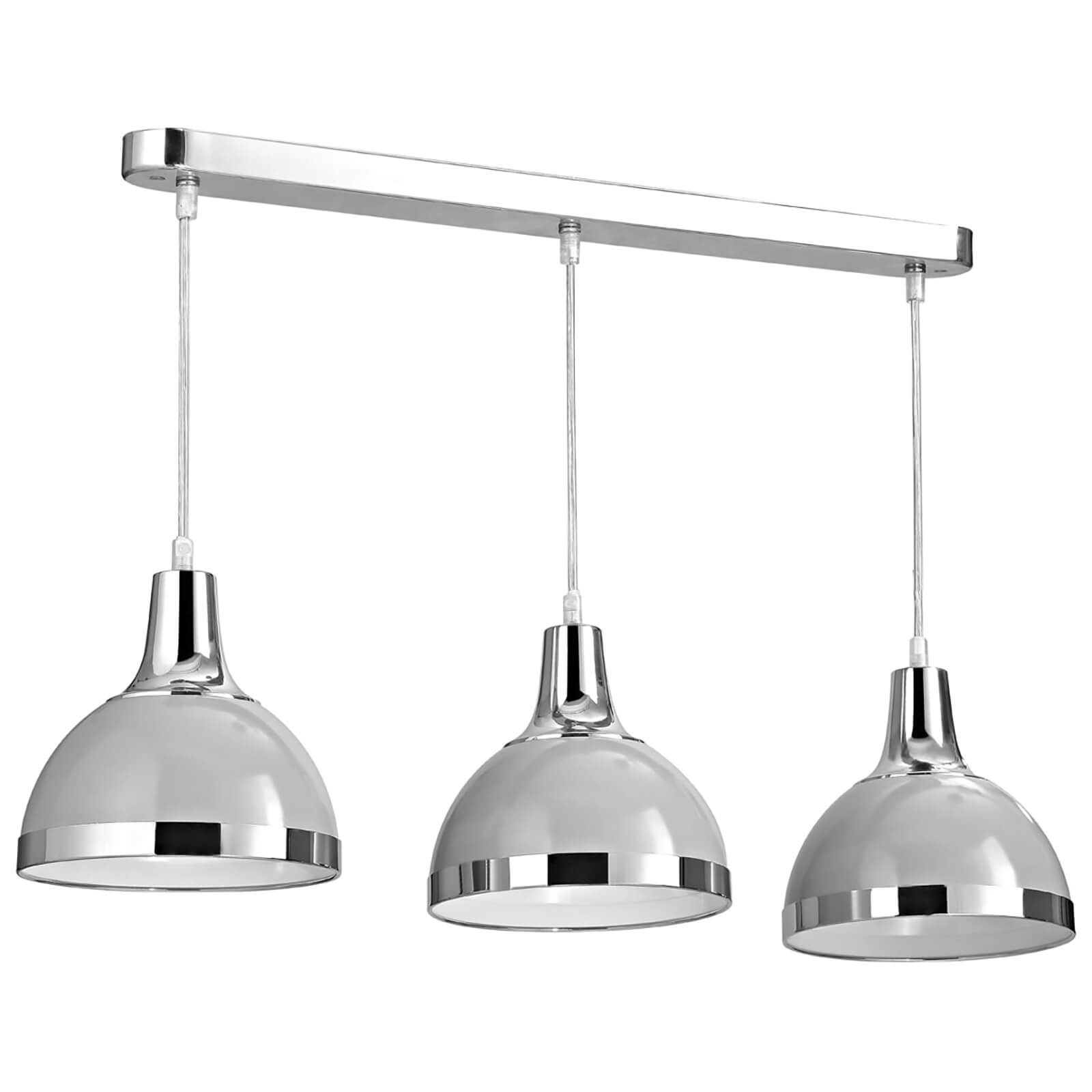 Fifty Five South Vermont 3 Pendant Light - Flint Grey