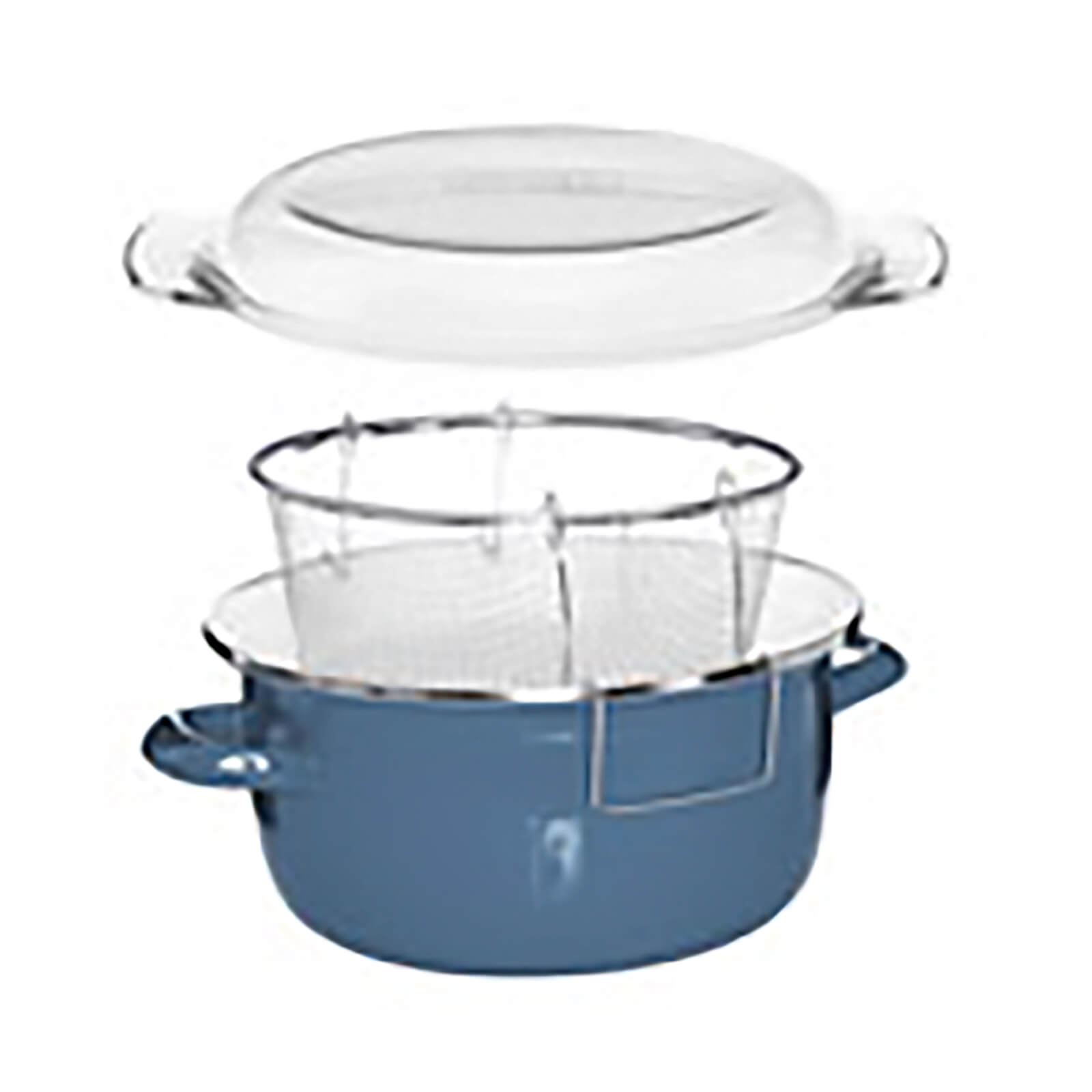 Enamel on Steel Deep Fryer - Blue