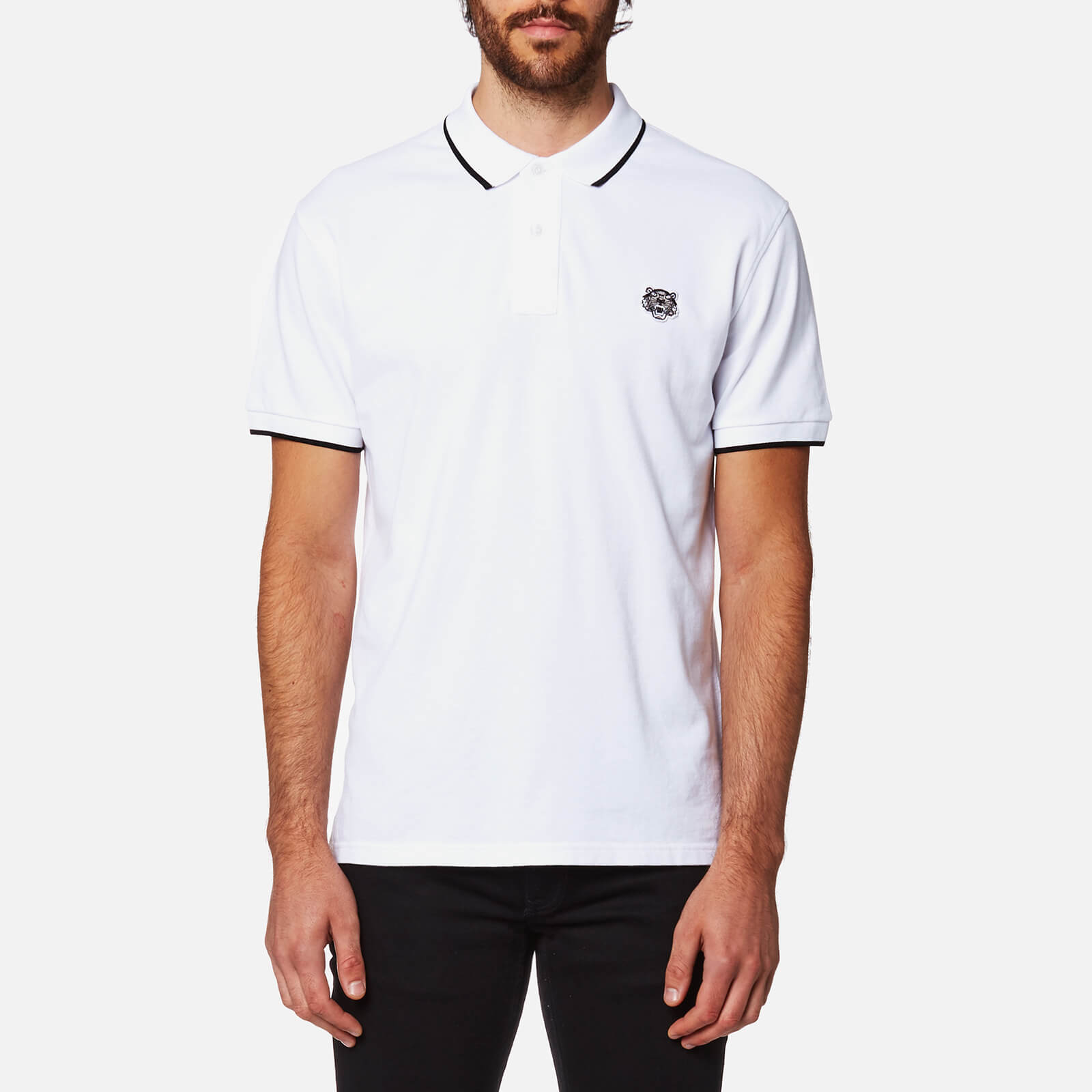 5fc7ac9121 KENZO Men's Slim Fit Polo Shirt - White - Free UK Delivery over £50