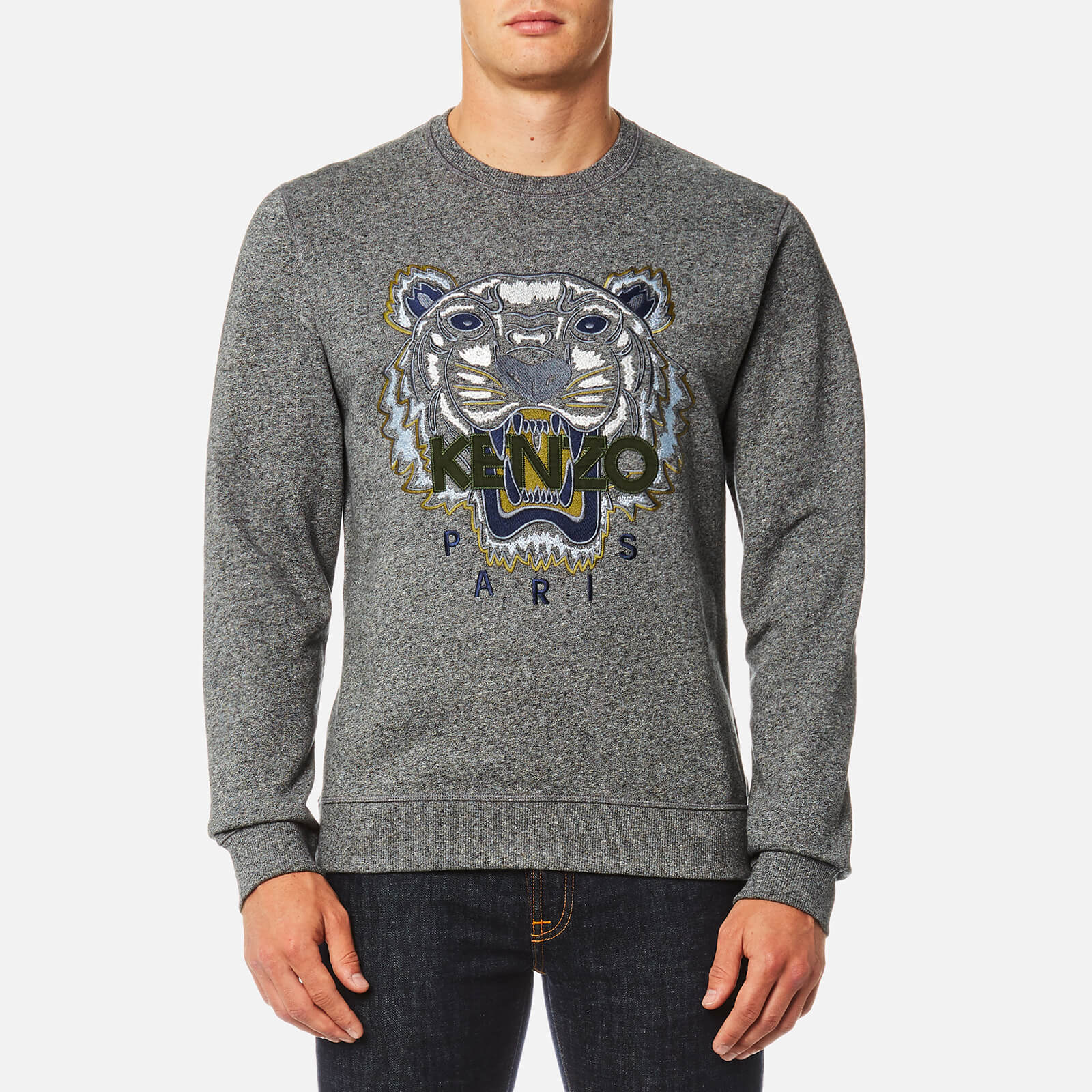 4b275581055b KENZO Men's Classic Icon Sweatshirt - Anthracite - Free UK Delivery over £50