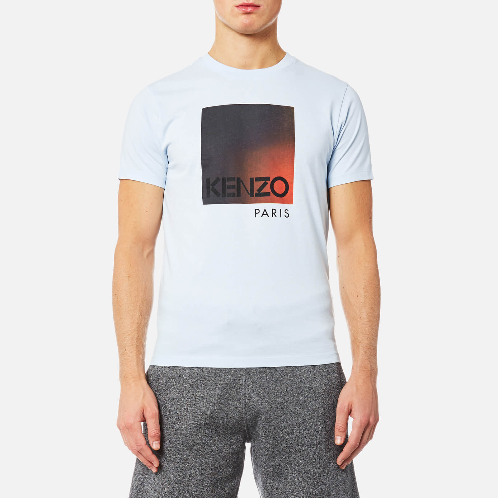 a7aea839a90f KENZO Men's Classic Degrade Logo T-Shirt - Light Blue - Free UK Delivery  over £50