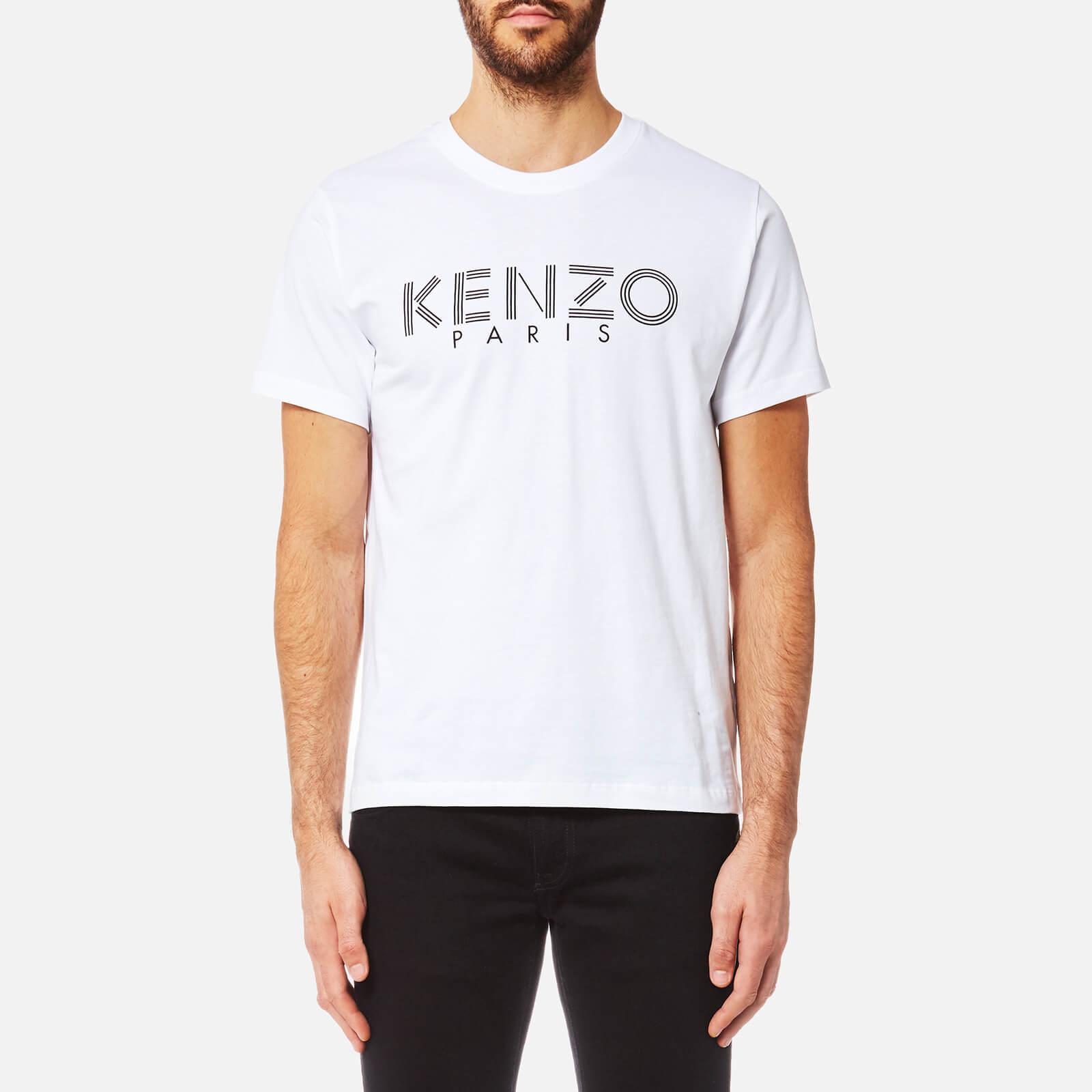 02f5adb451e8 KENZO Men's KENZO Paris T-Shirt - White - Free UK Delivery over £50