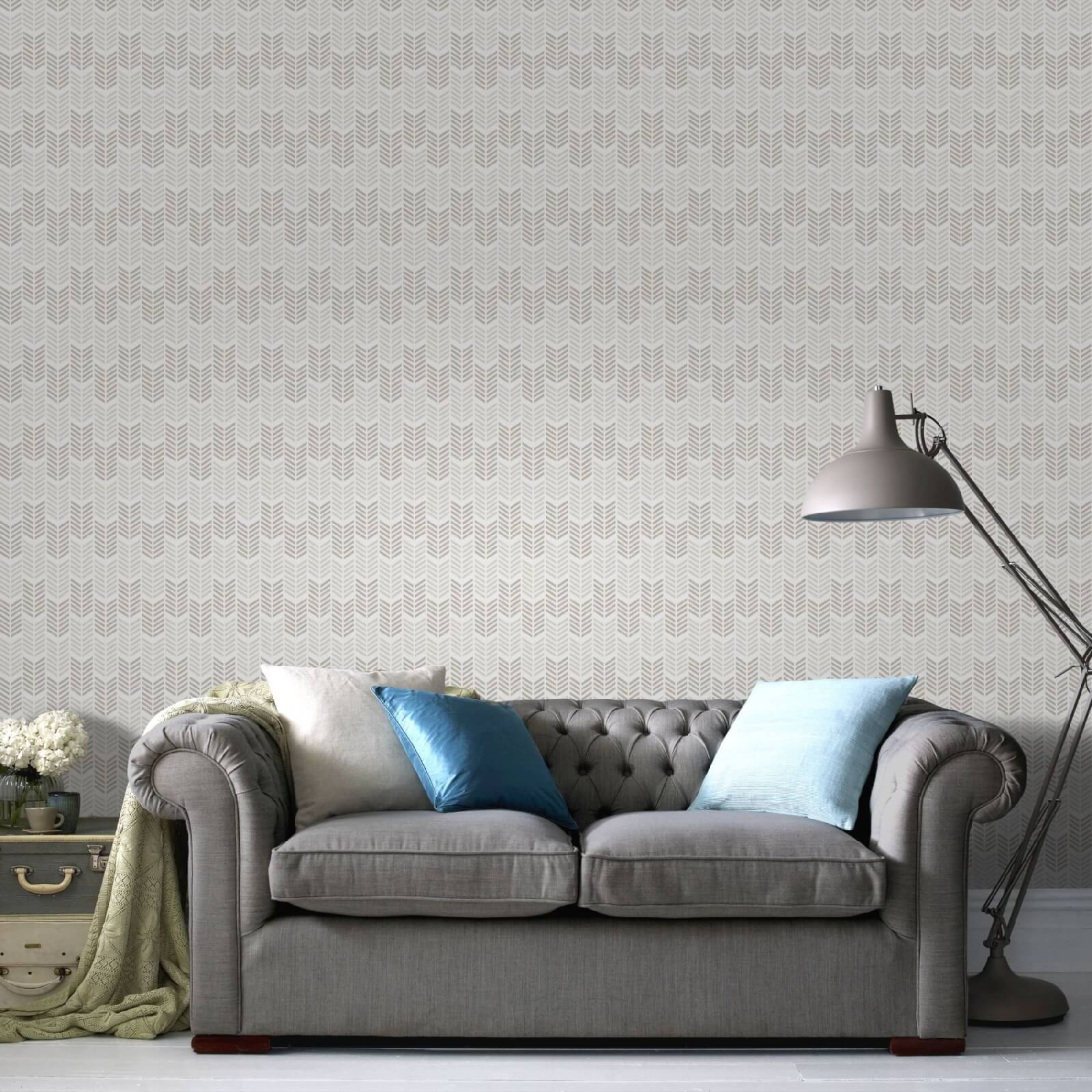 Superfresco Easy Oiti Chevron Geometric Wallpaper - Taupe