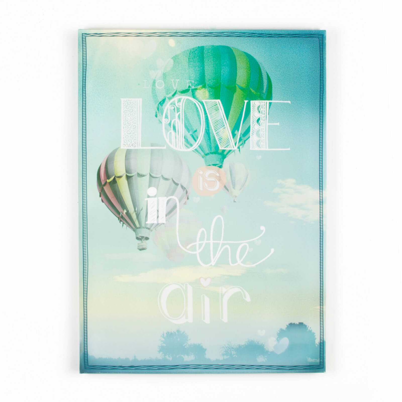 Art For The Home Love Is In The Air Quote Bright Printed Canvas Wall Art