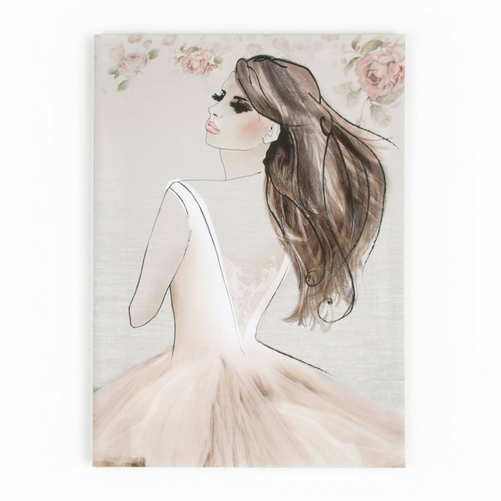 Art For The Home Elizabeth Ballerina Printed Canvas Wall Art