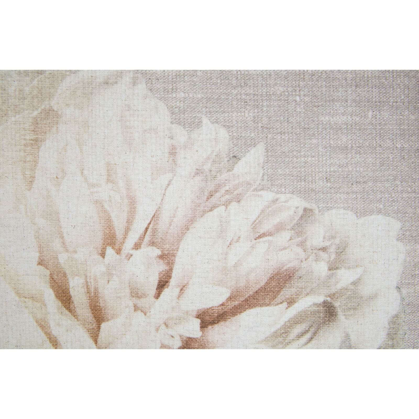 Art For The Home Cream Petals Fabric Canvas Wall Art