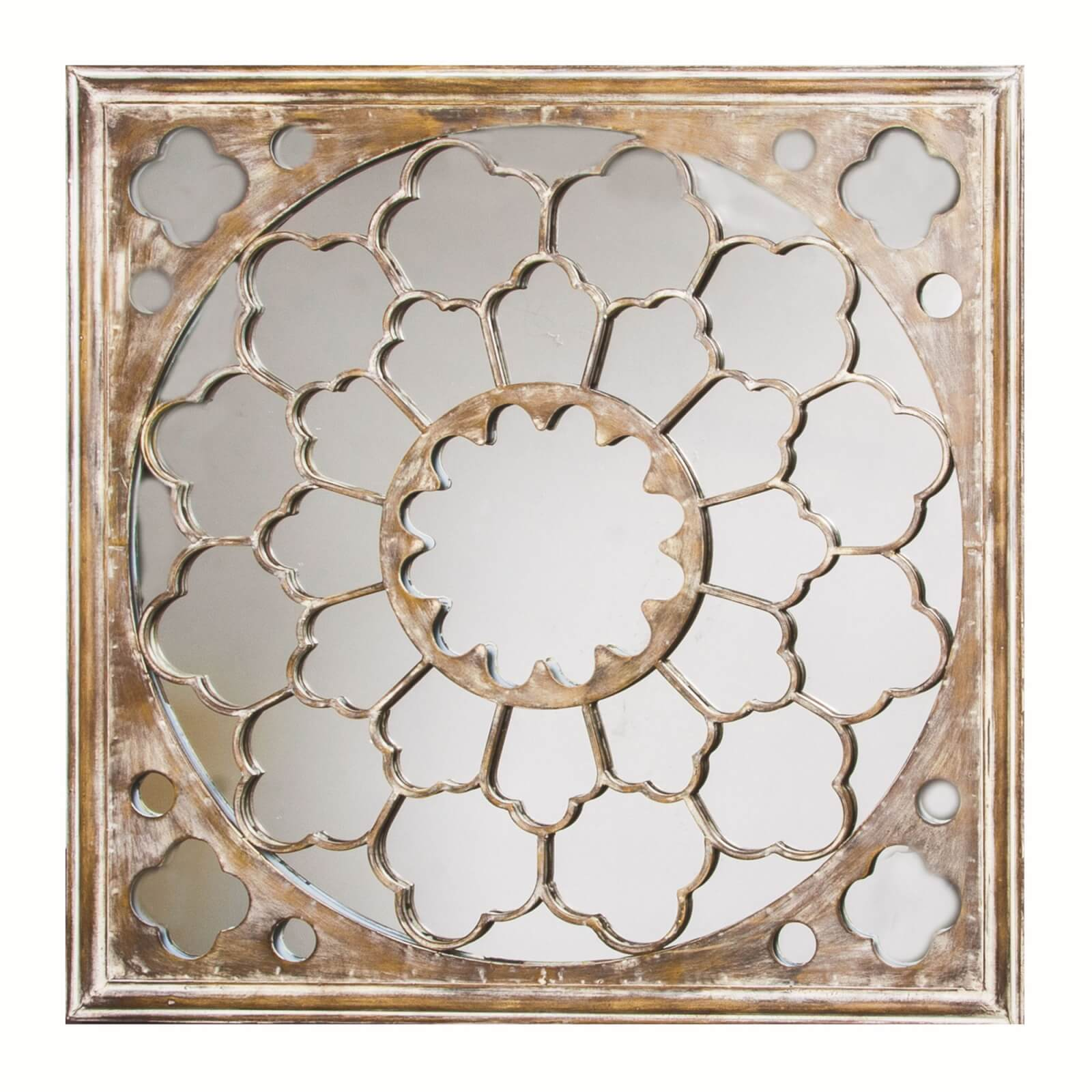 Art For The Home Silver Fretwork Ornate Mirror