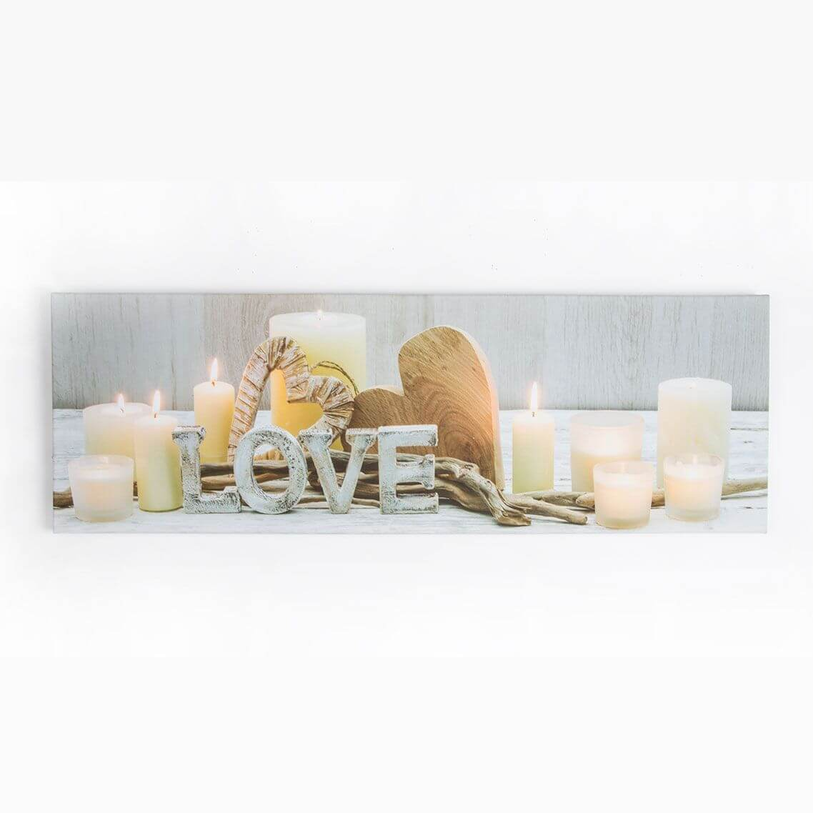 Art For The Home Love Led Light Printed Canvas Wall Art