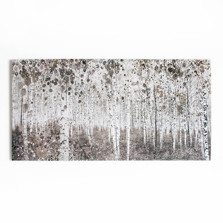 Art For The Home Neutral Watercolour Woods Printed Canvas Wall Art