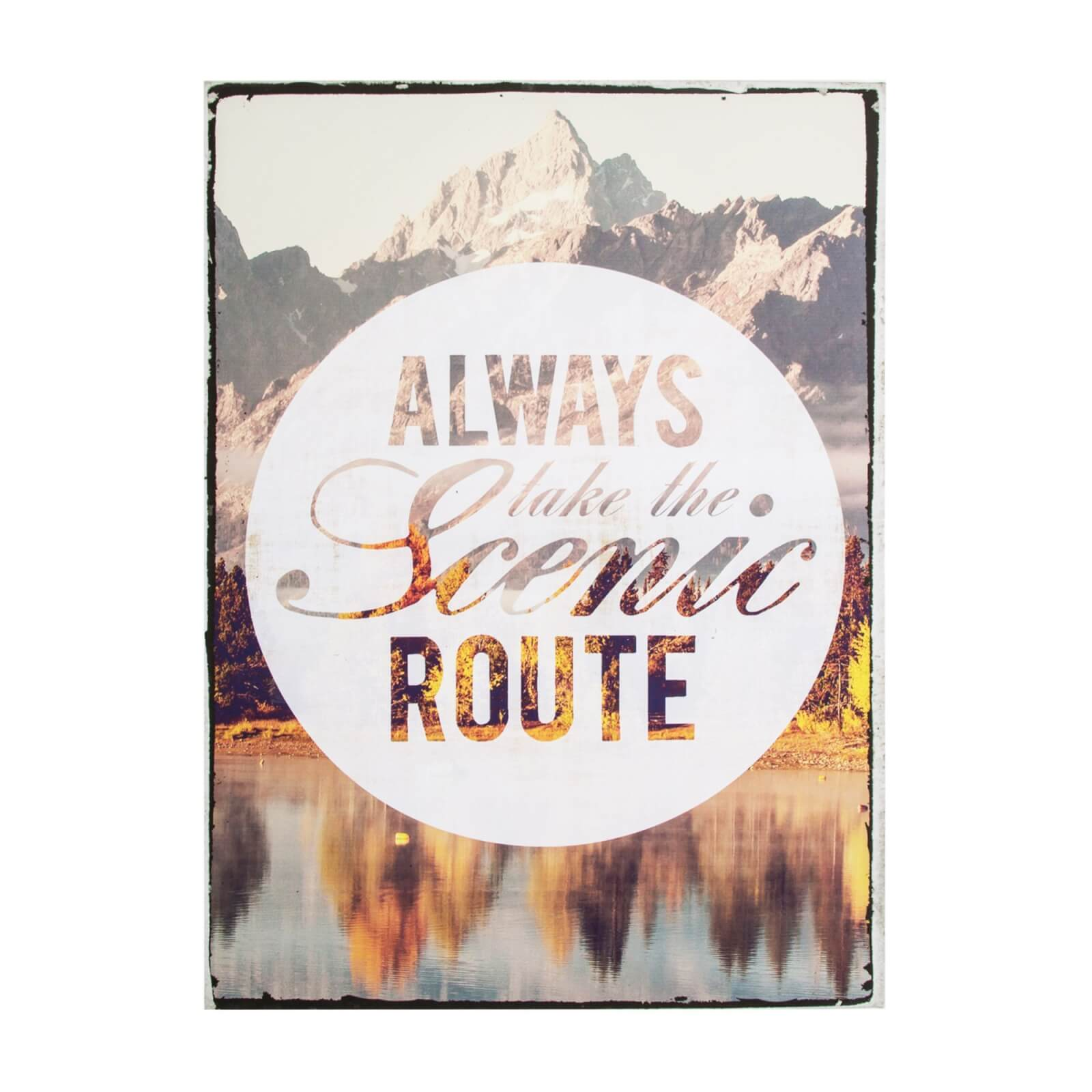 Art For The Home Scenic Route Printed Canvas Wall Art