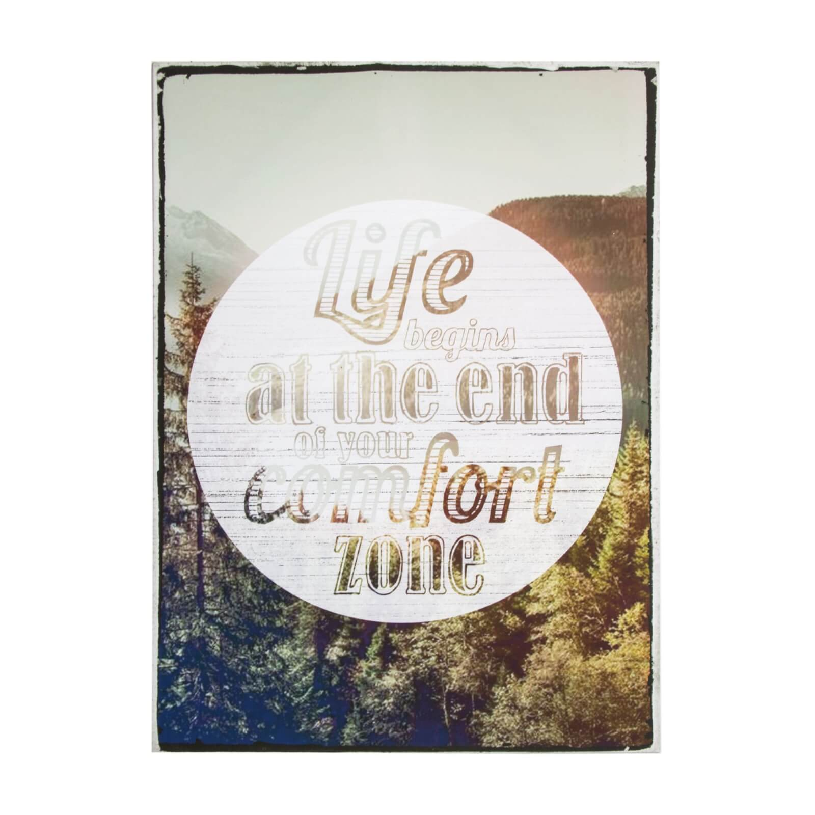 Art For The Home Life Begins Landscape Printed Canvas Wall Art
