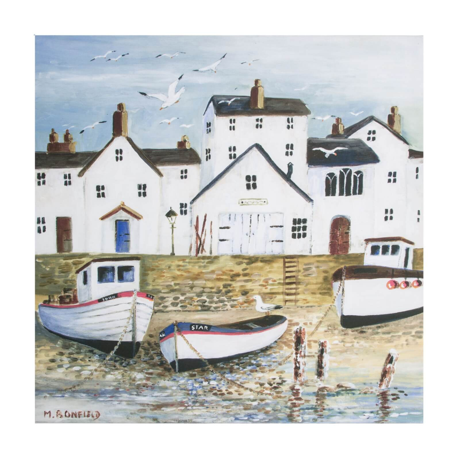 Art For The Home Harbourside Printed Canvas Wall Art
