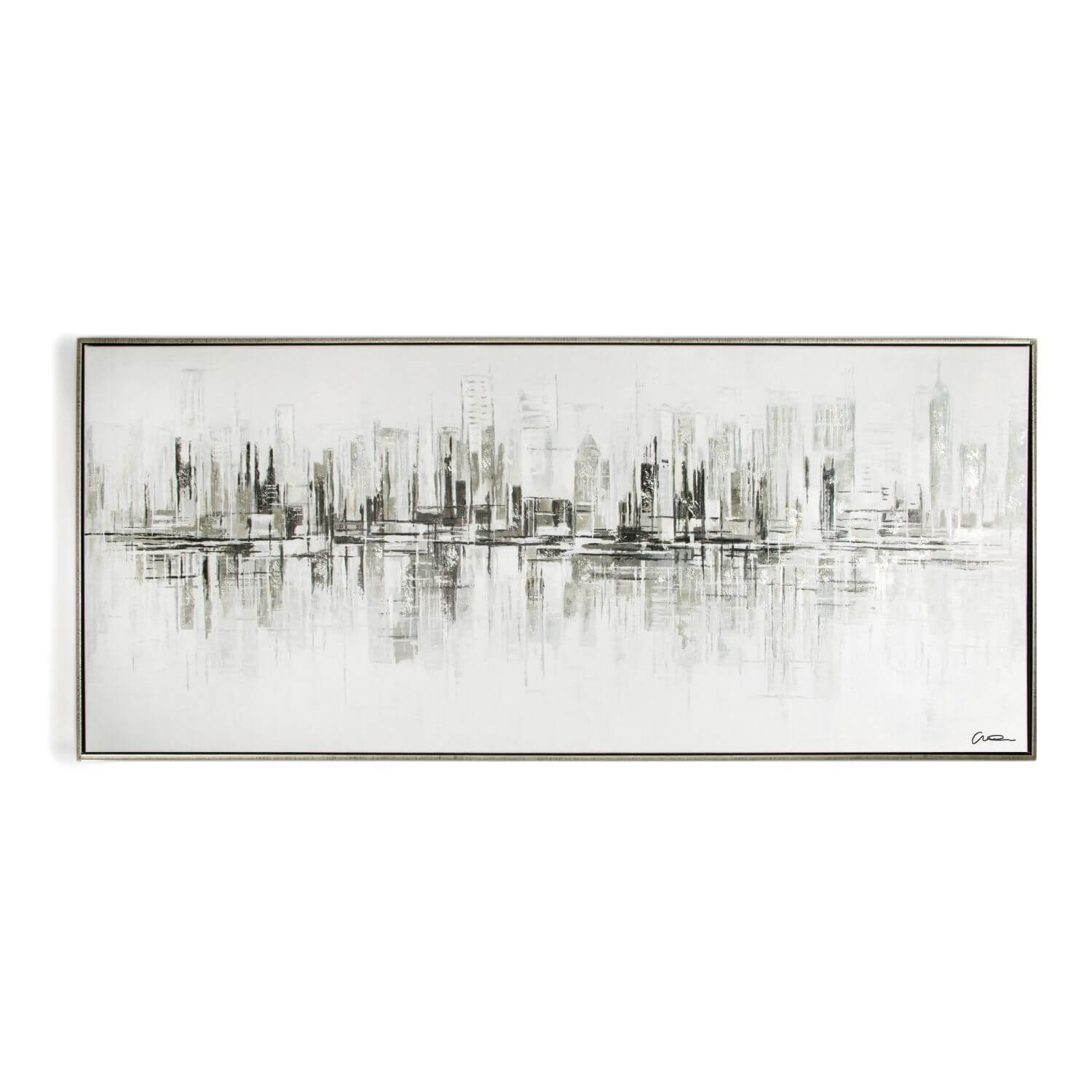 Art For The Home New York Reflections Handpainted Framed Canvas