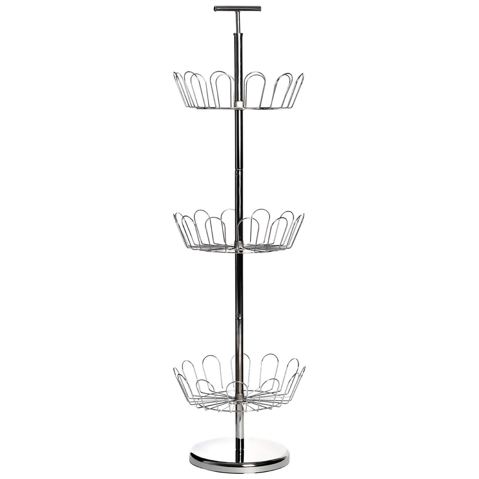 Fifty Five South Revolving Shoe Stand for 18 Pairs - Chrome