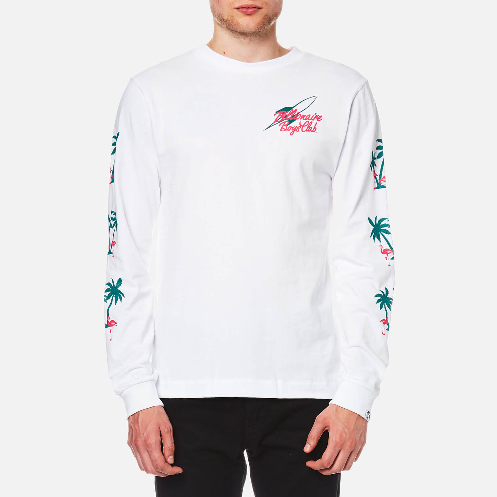 98a7a7087e6a Billionaire Boys Club Men s Paradise Print Long Sleeve T-Shirt - White -  Free UK Delivery over £50