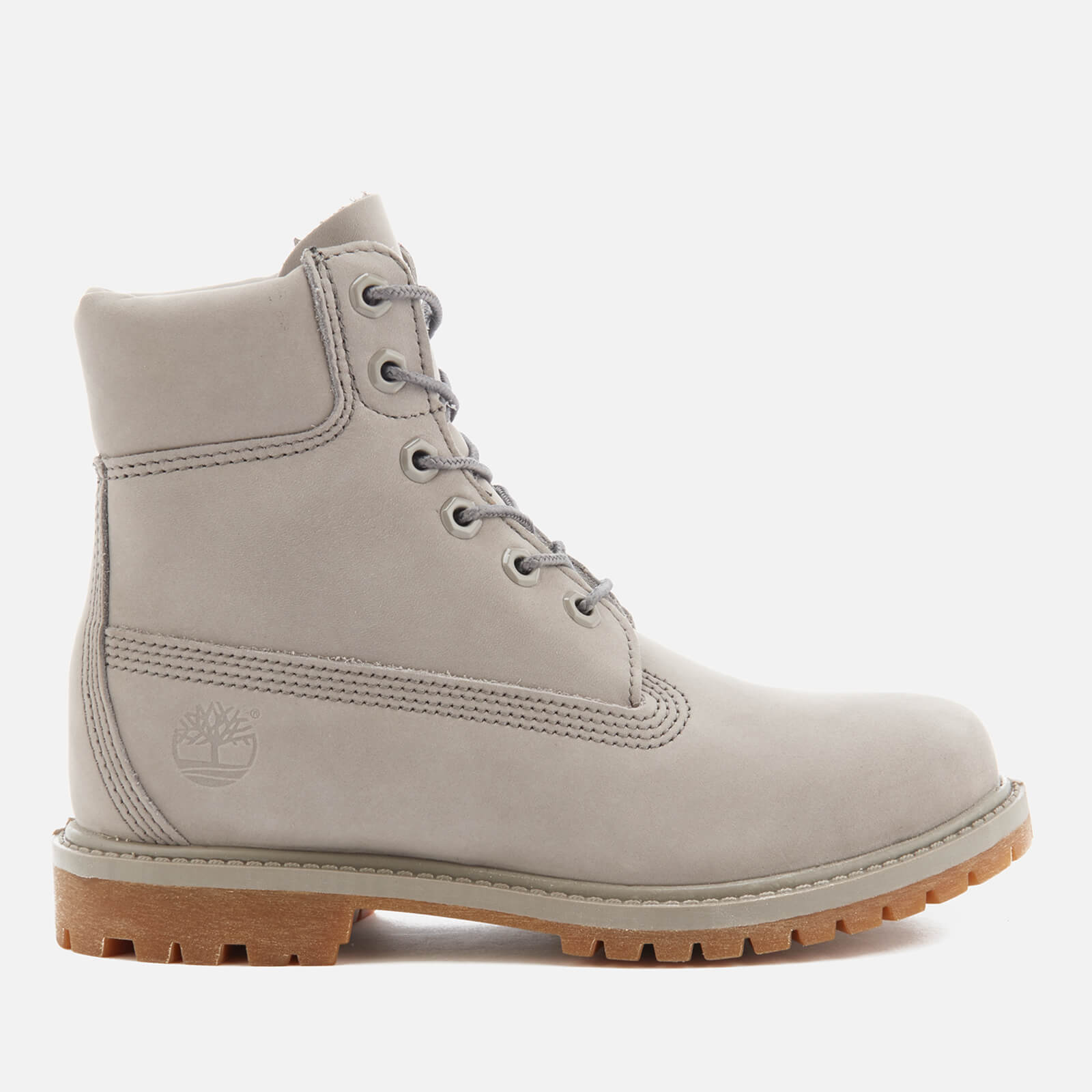 Timberland Women's 6 Inch Premium Leather Boots Steeple Grey Waterbuck Monochromatic