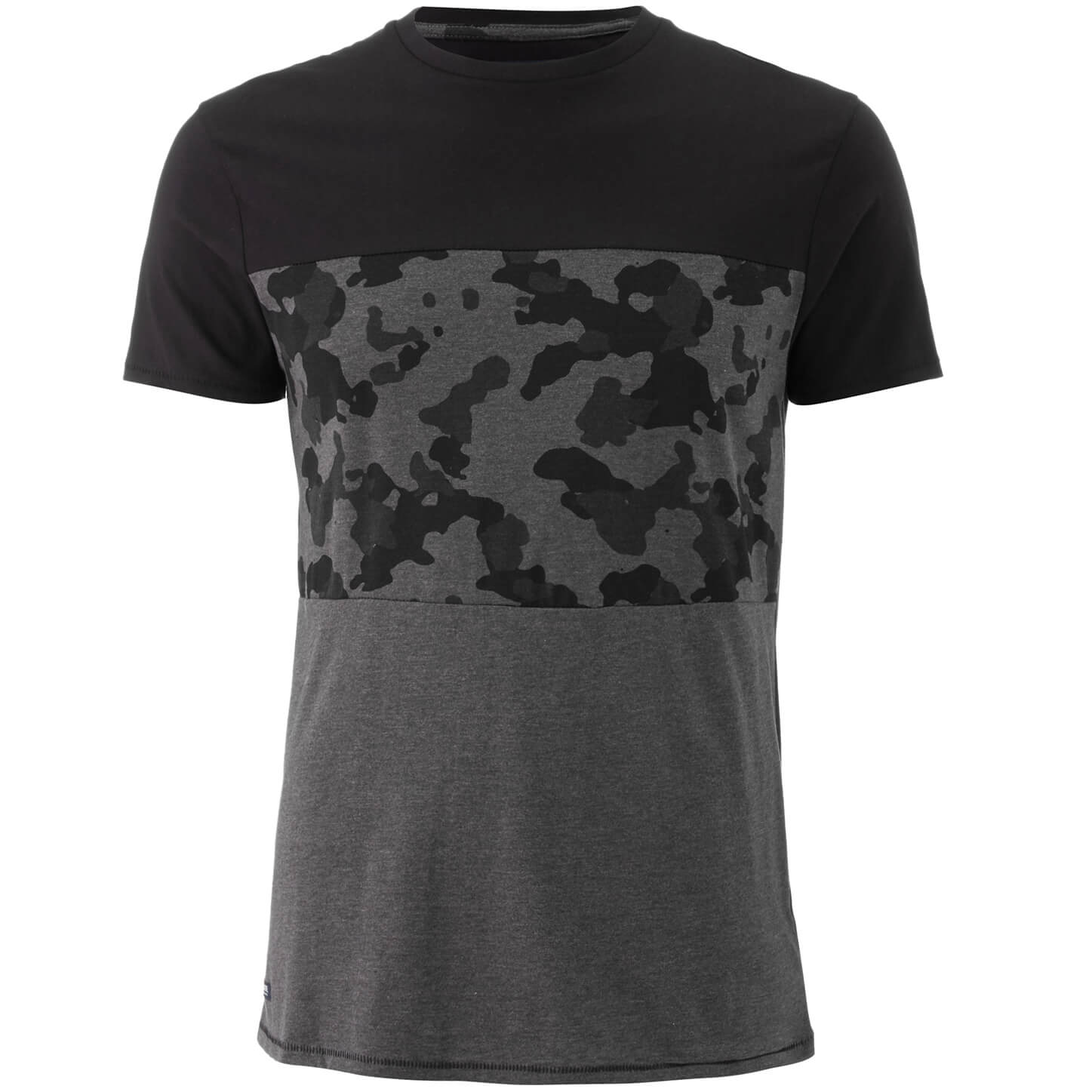 T-Shirt Homme Threadbare Independence Camouflage - Charbon