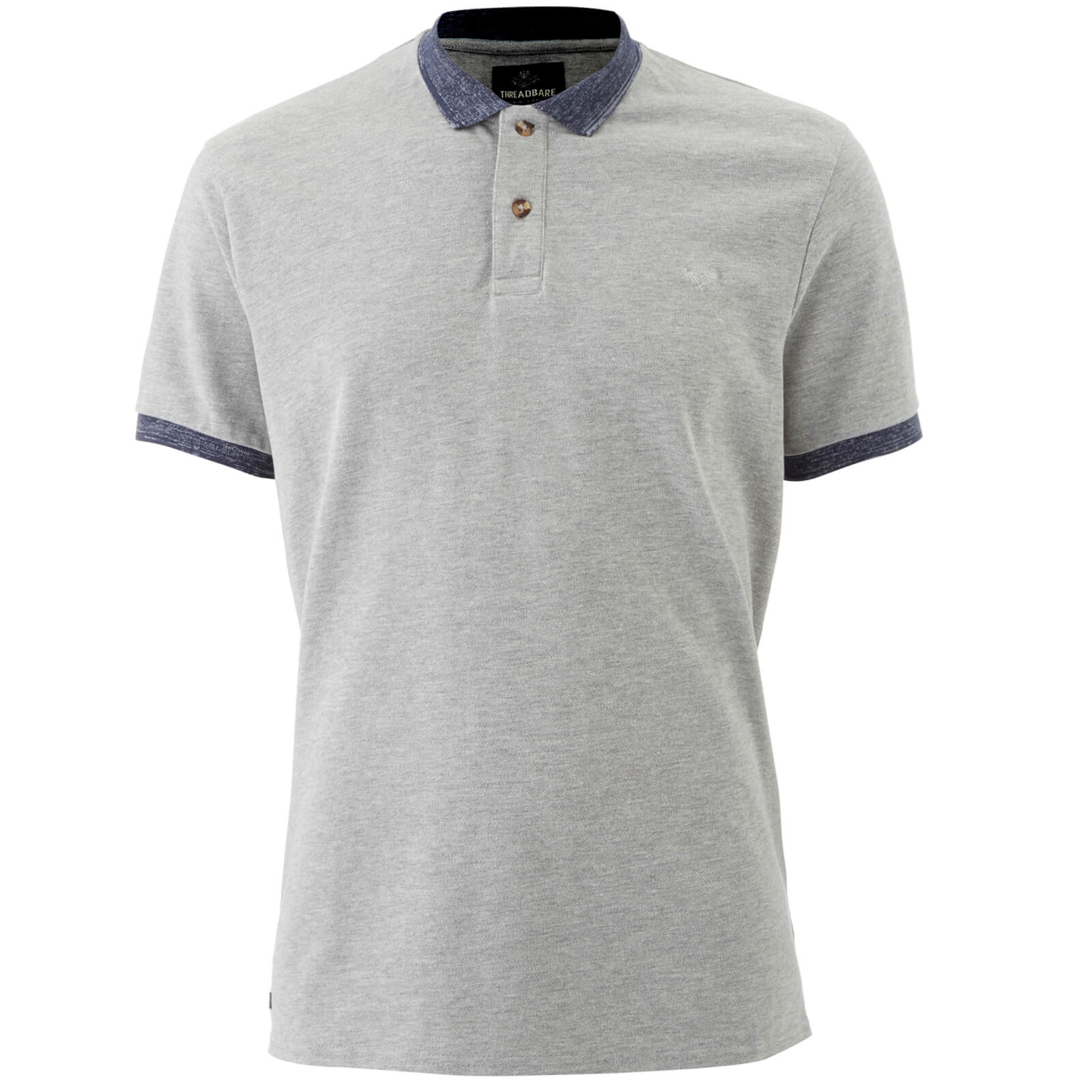 Polo Homme Compton Threadbare - Gris