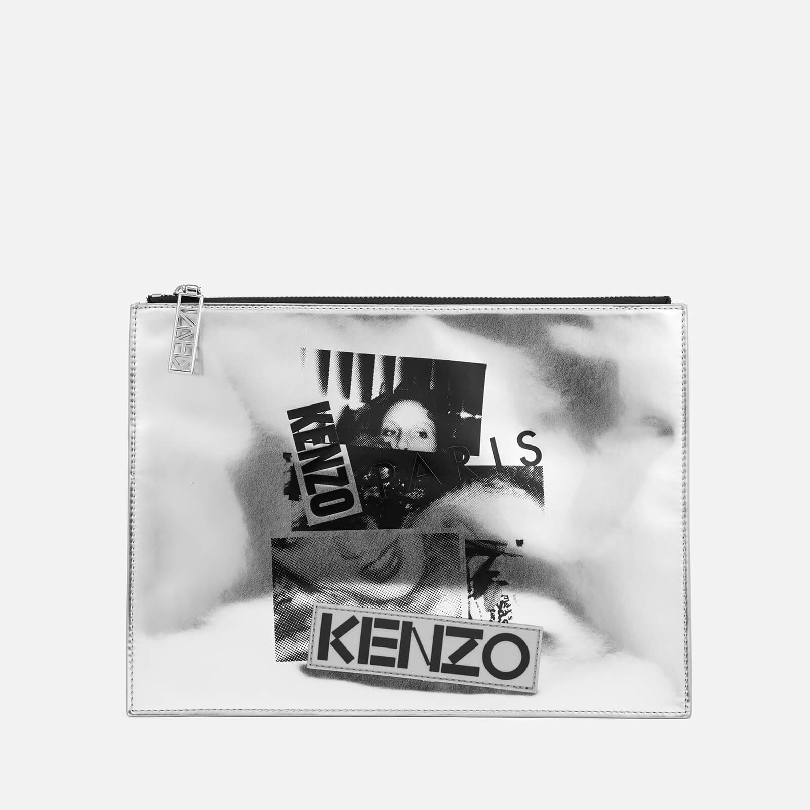 6685e447d2aae4 KENZO Women's 'Antonio Lopez' Clutch Bag - Silver - Free UK Delivery over  £50