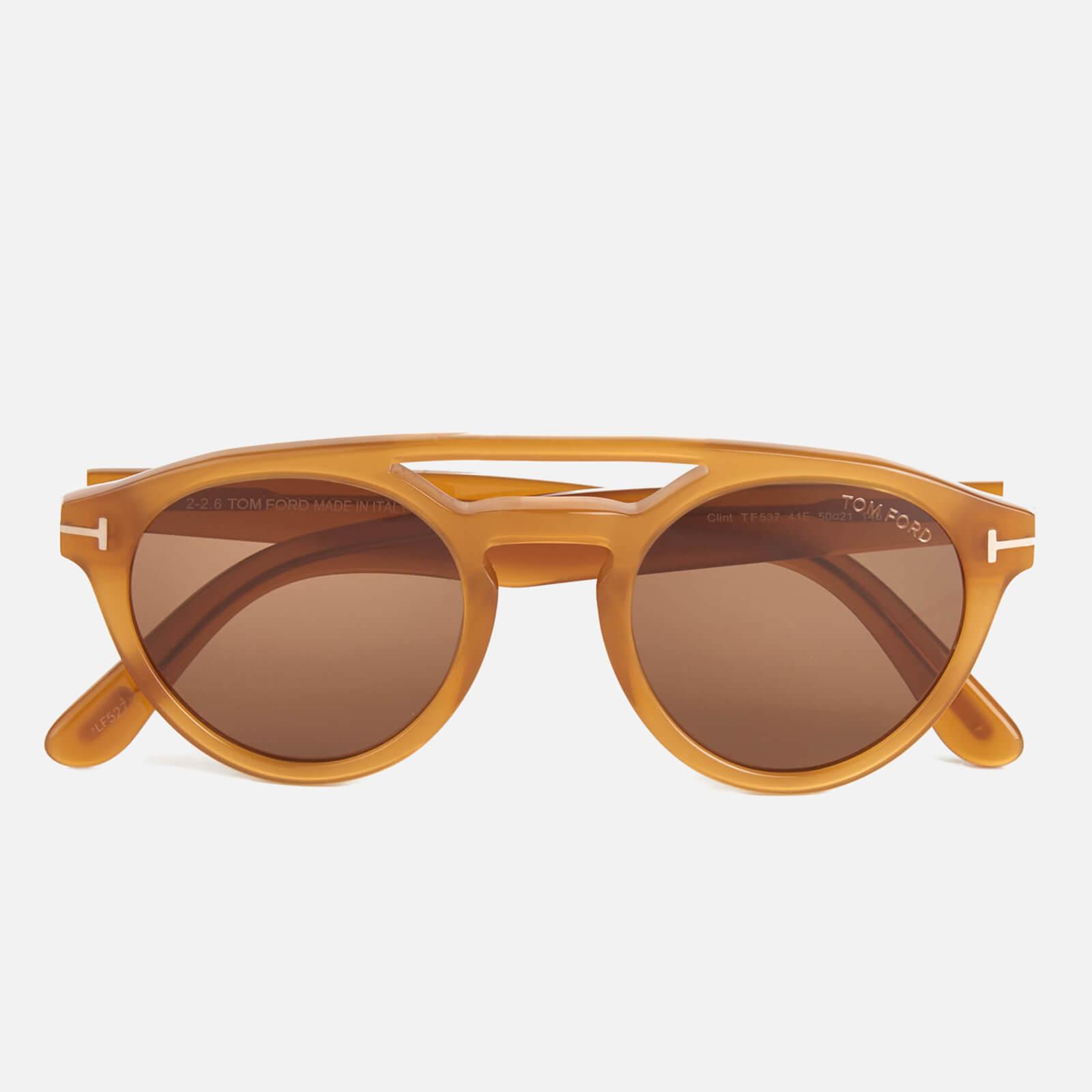 615c047f3a748 Tom Ford Women s Clint Sunglasses - Amber Womens Accessories ...