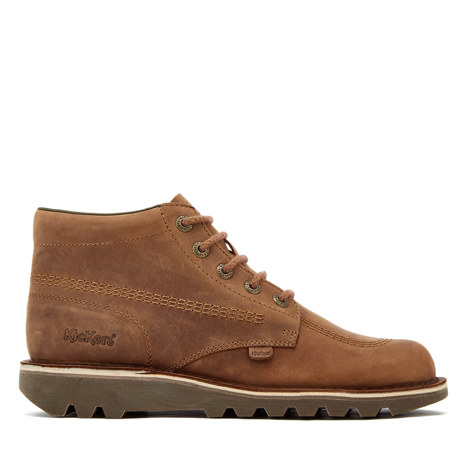 Bottines en Cuir Homme Kickers Kick Hi - Brun