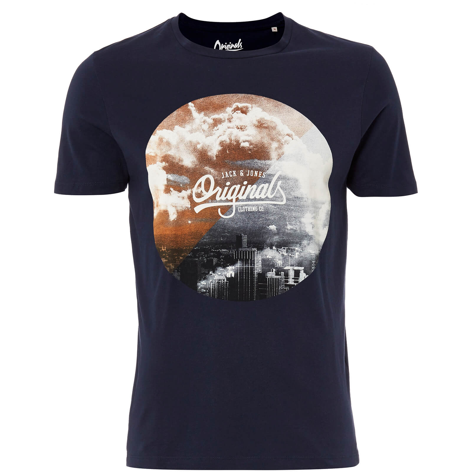 T-Shirt Homme Originals Arco Jack & Jones - Bleu Marine