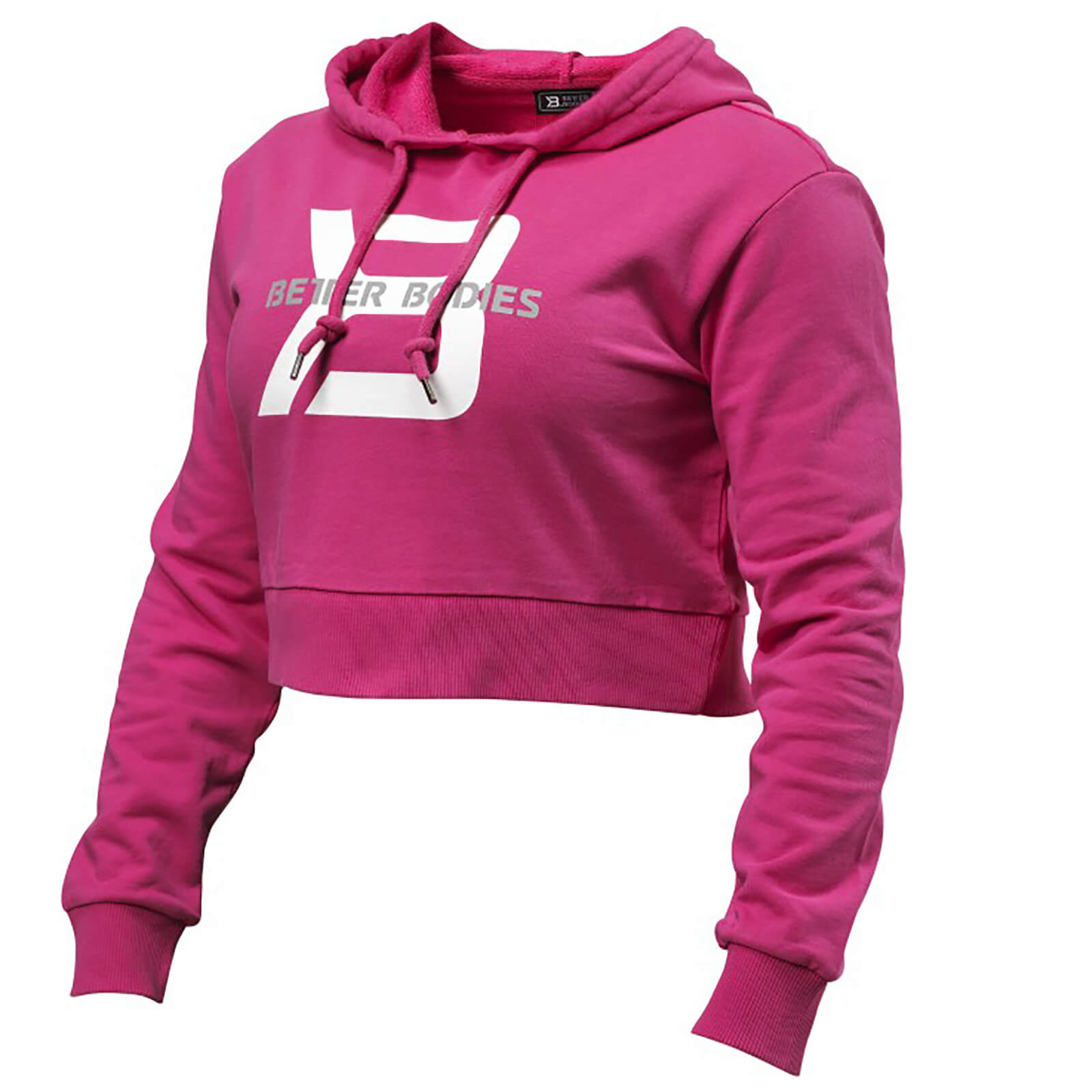 Better Bodies Cropped Hoody - Hot Pink