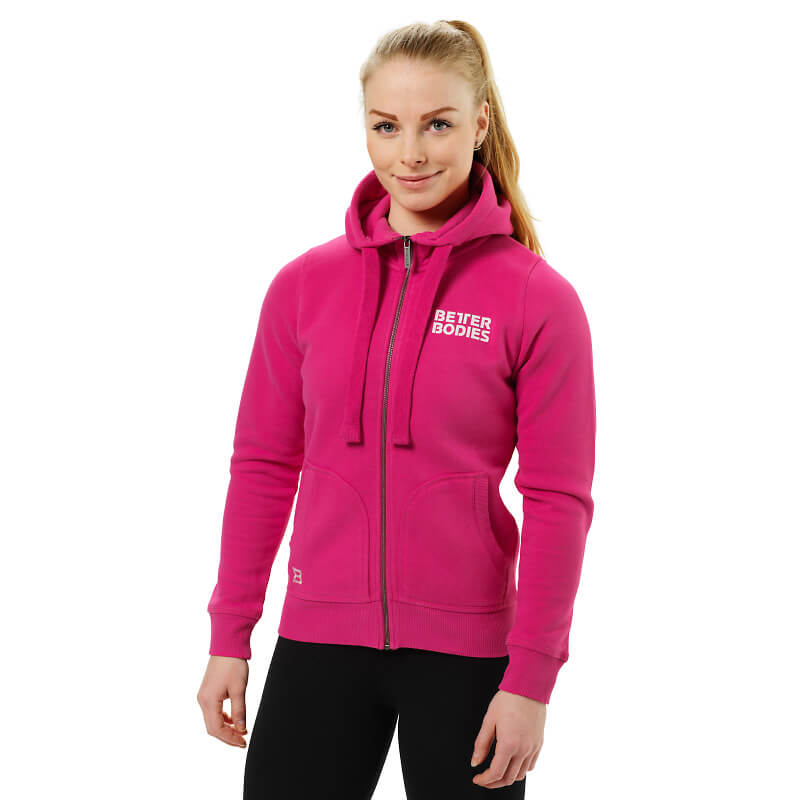 Better Bodies Soft Hoody - Hot Pink - S