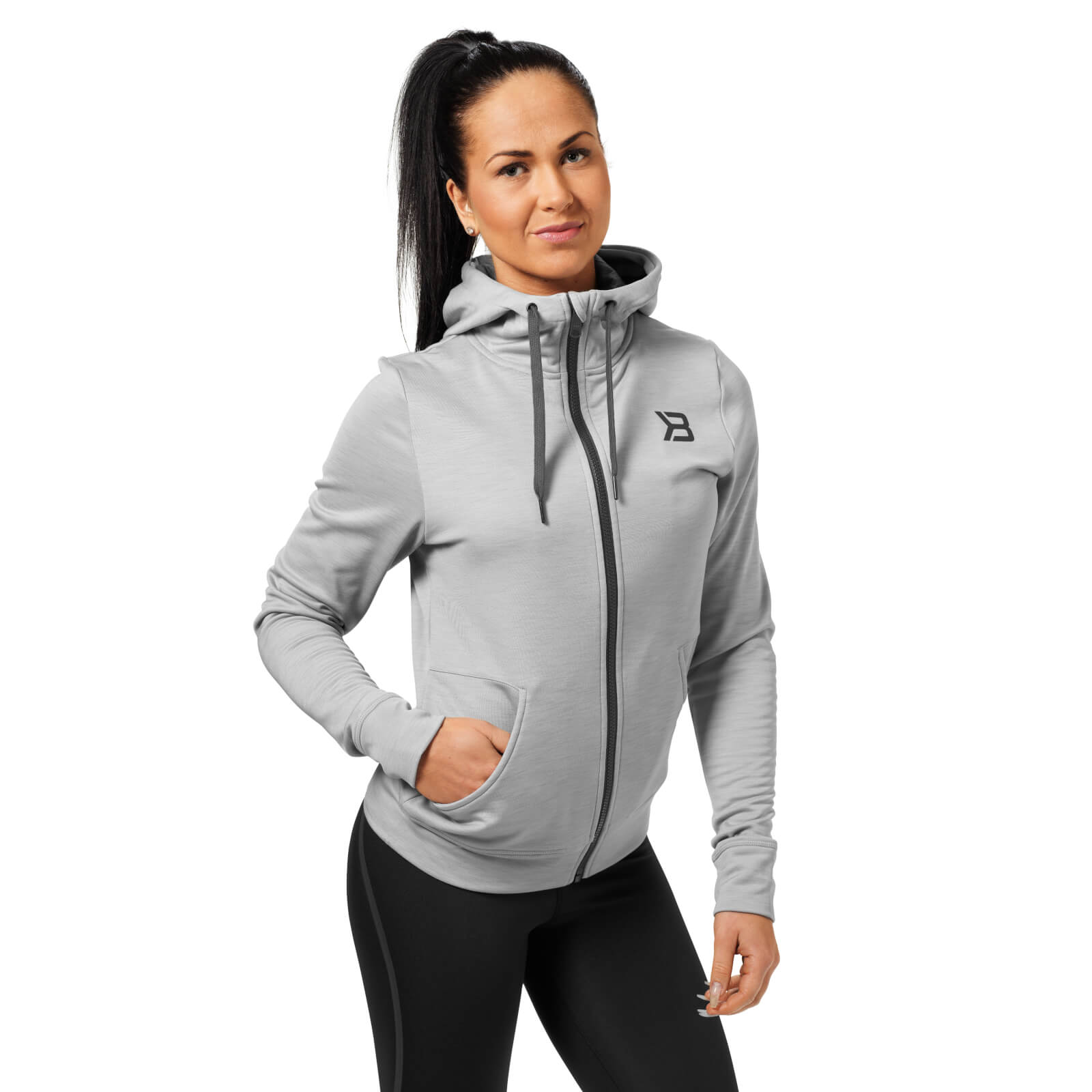 Better Bodies Performance Hoody - Grey Melange - S