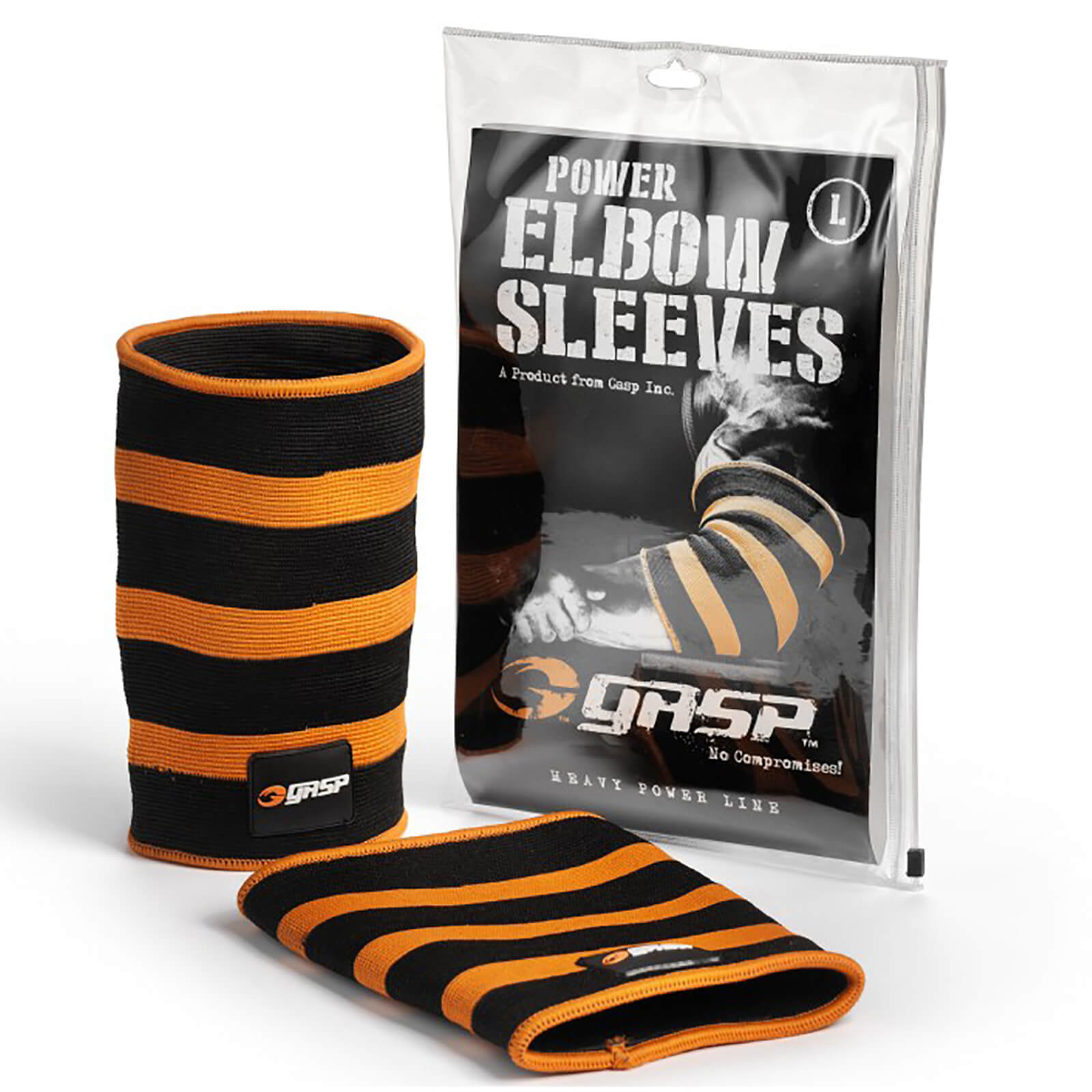GASP Power Elbow Sleeves - Black/Flame - XXL