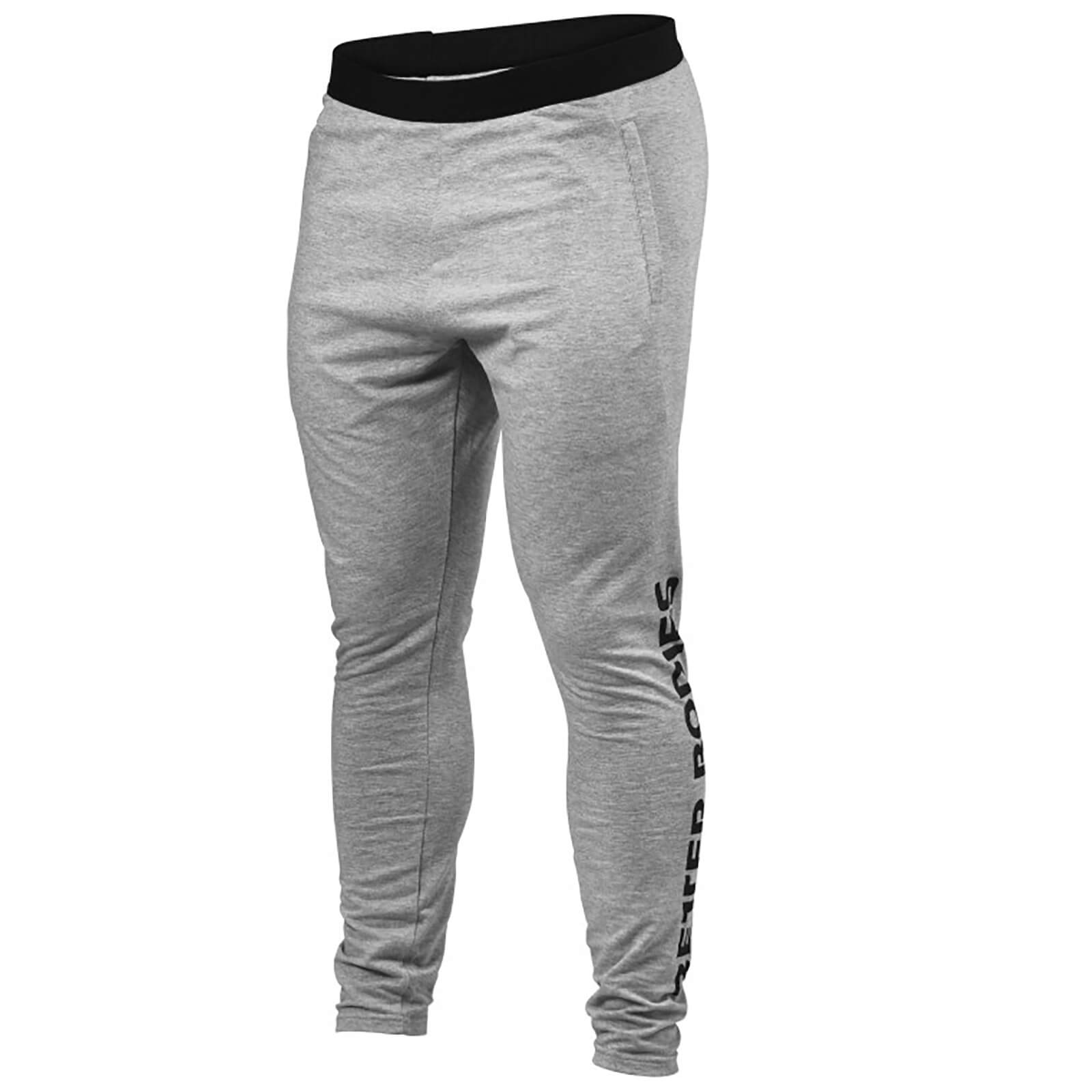 Better Bodies Hudson Jersey Pants - Grey Melange - S