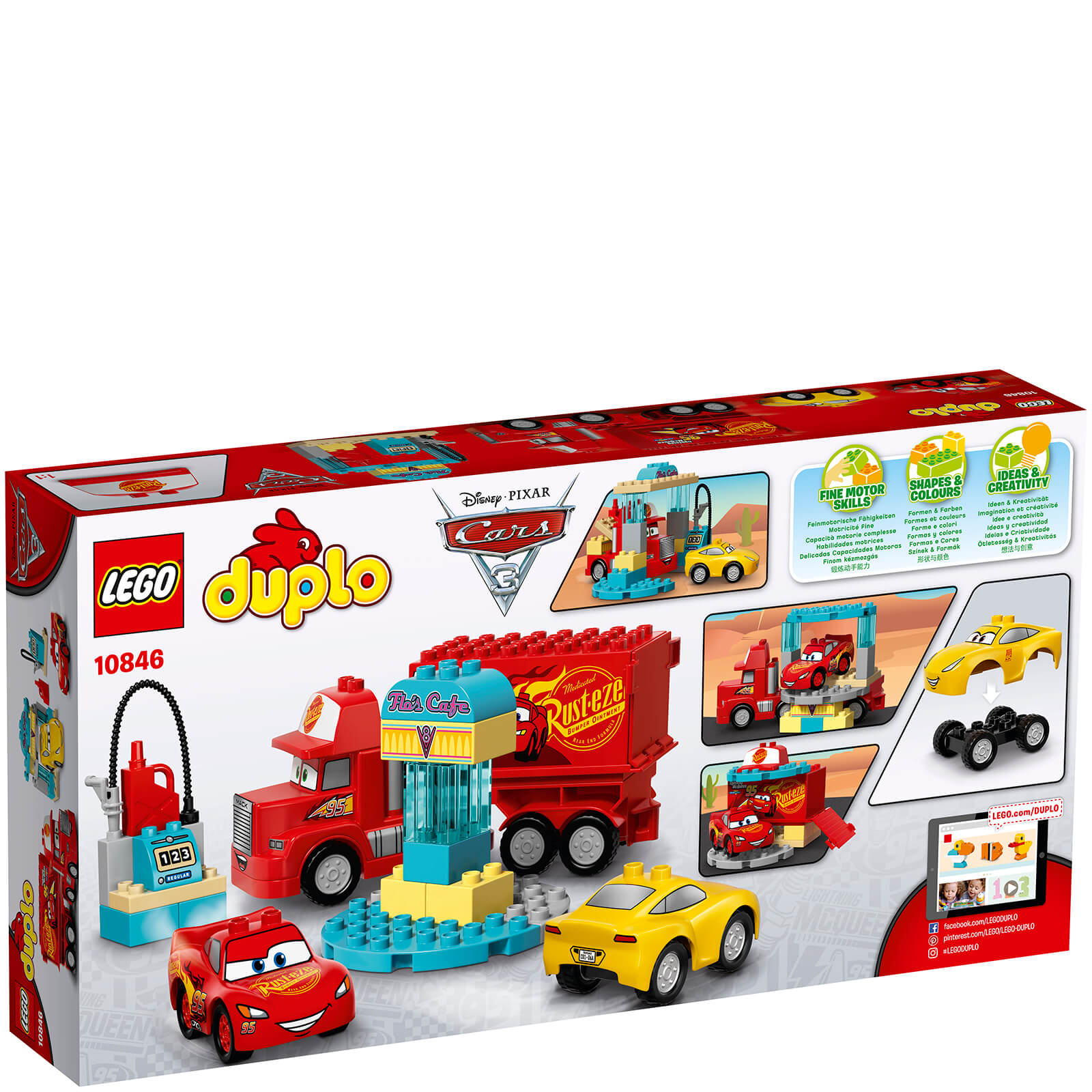 Lego Duplo Cars 3 Flos Café 10846 Toys Zavvi
