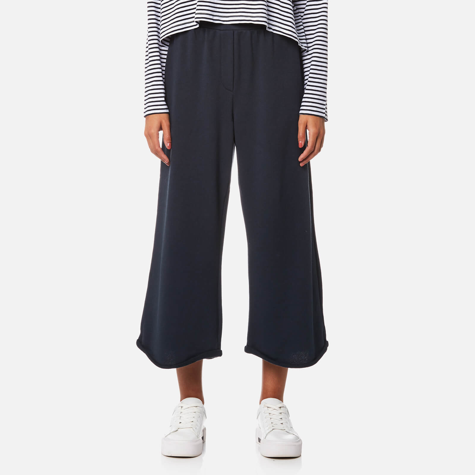 T by Alexander Wang Women s Pull On Wide Leg Cropped Pants - Navy - Free UK  Delivery over £50 5a0e7dd9723d8