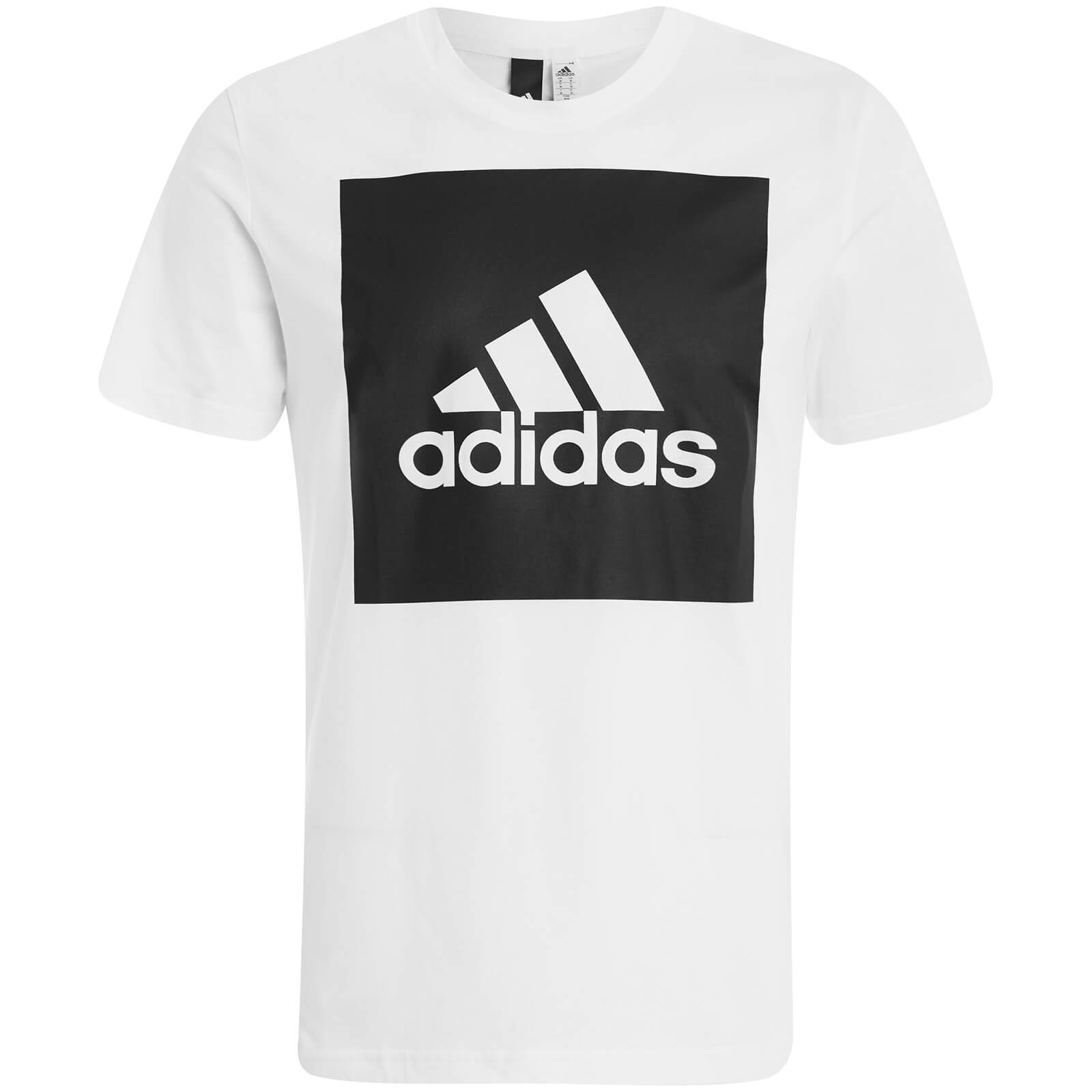 634097999f06 adidas Men's Essential Square Logo T-Shirt - White. Showing image 0 - null