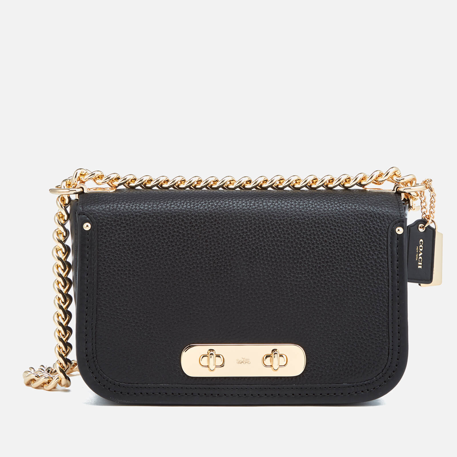 bae4ade35 Coach Women's Coach Swagger Shoulder Bag - Black - Free UK Delivery over £50
