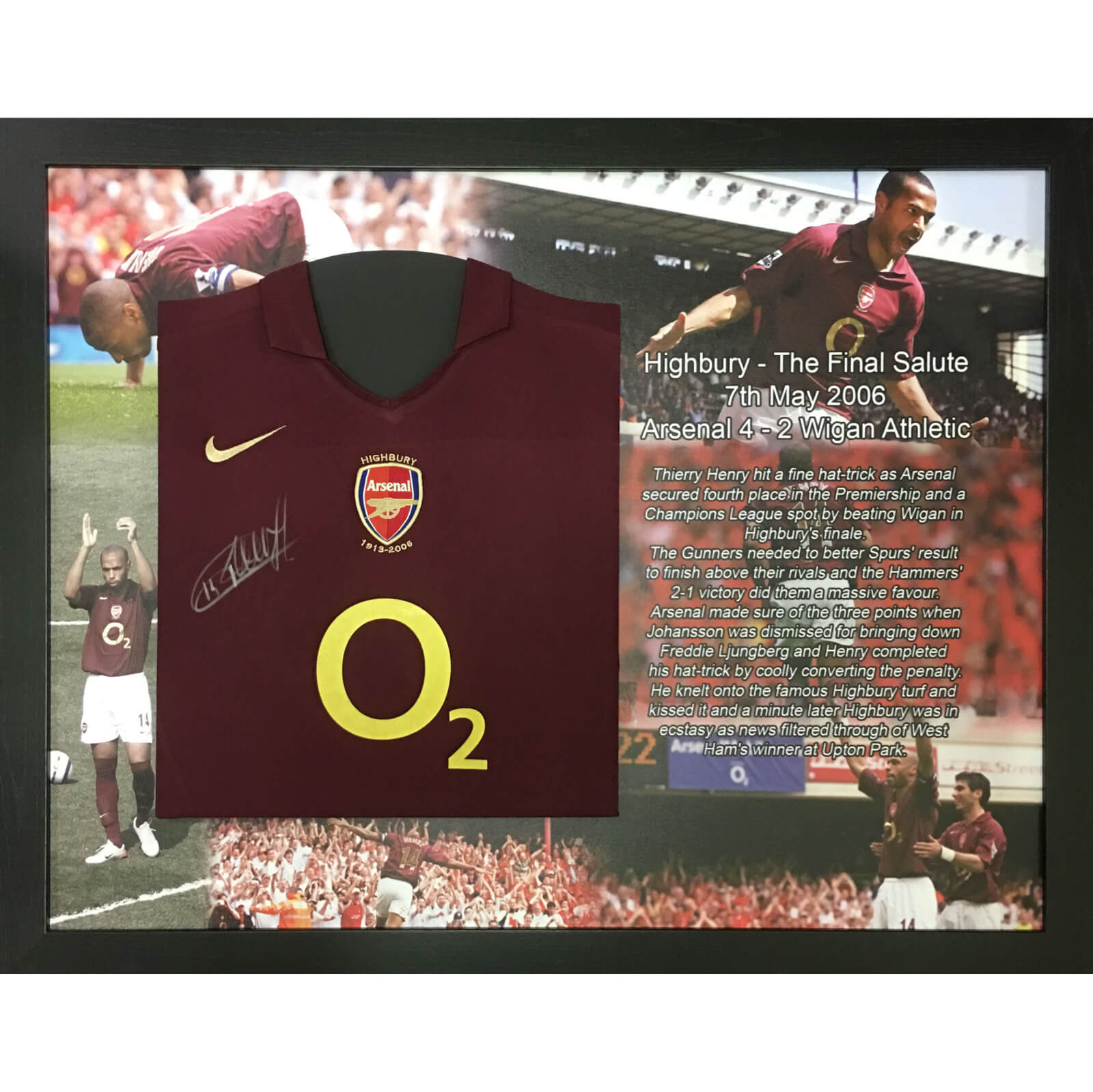 226473fd639 Thierry Henry Signed and Framed Arsenal Shirt Merchandise