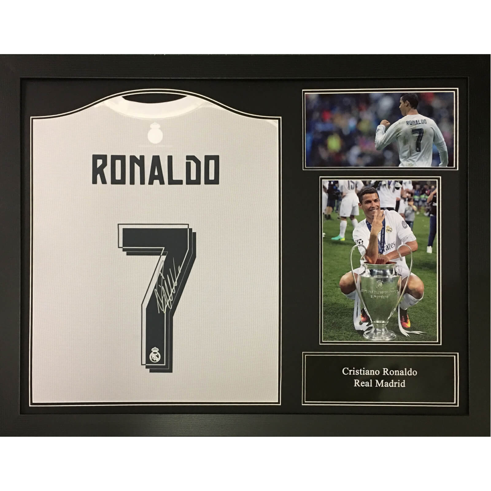 best cheap f6060 7ea0f Cristiano Ronaldo 2016 Signed and Framed Real Madrid Shirt
