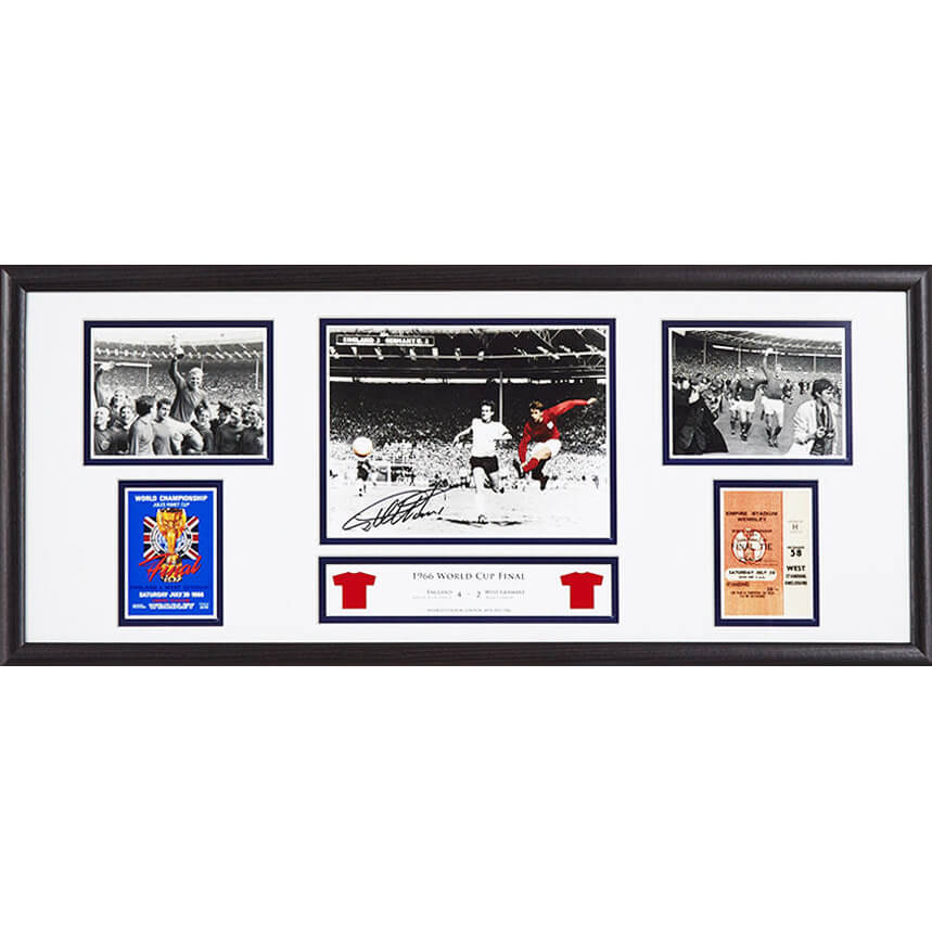 Geoff Hurst Signed and Framed Storyboard