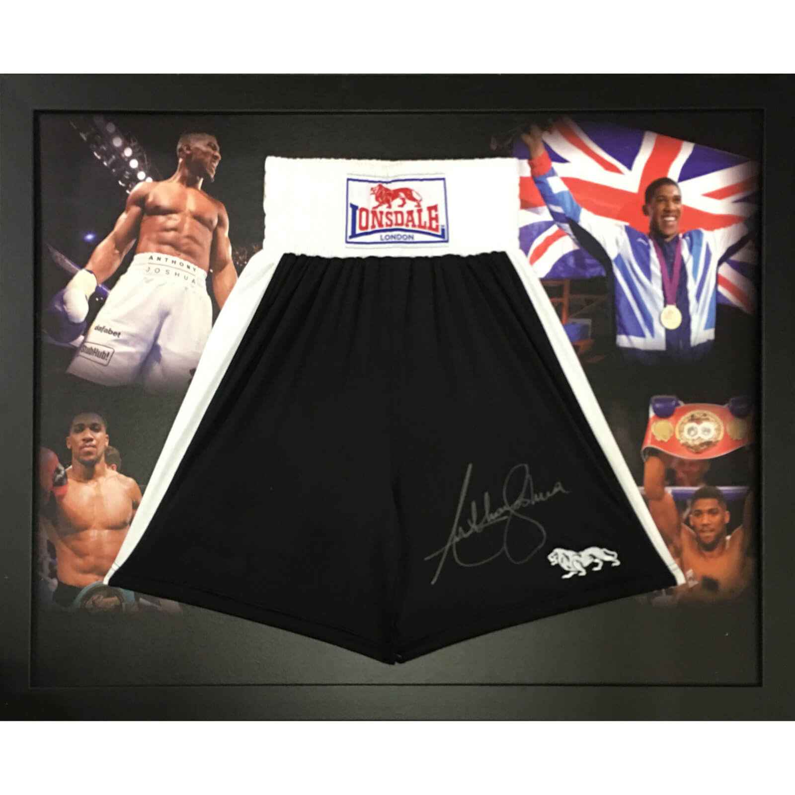 Anthony Joshua Signed and Framed Shorts