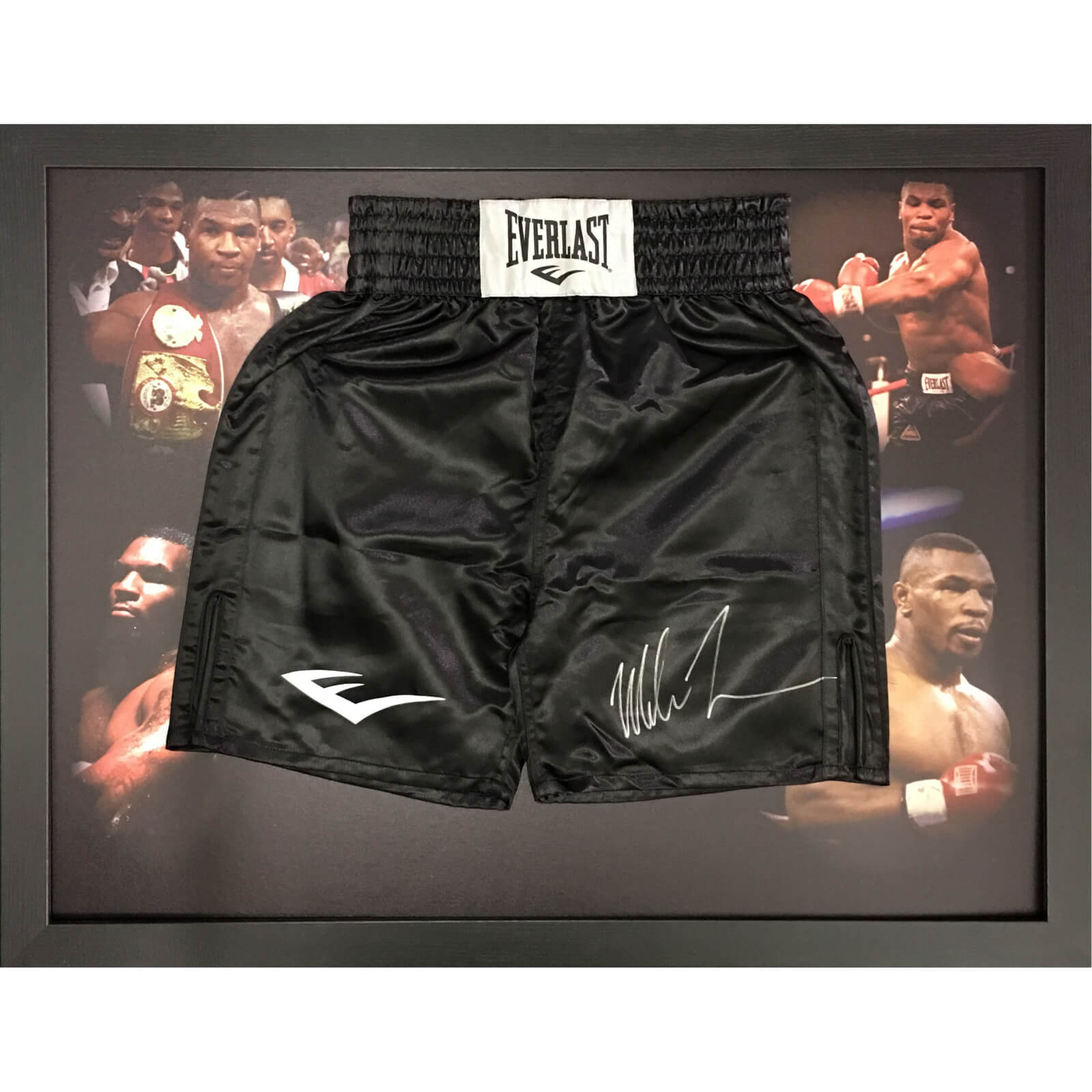 Mike Tyson Signed and Framed Shorts