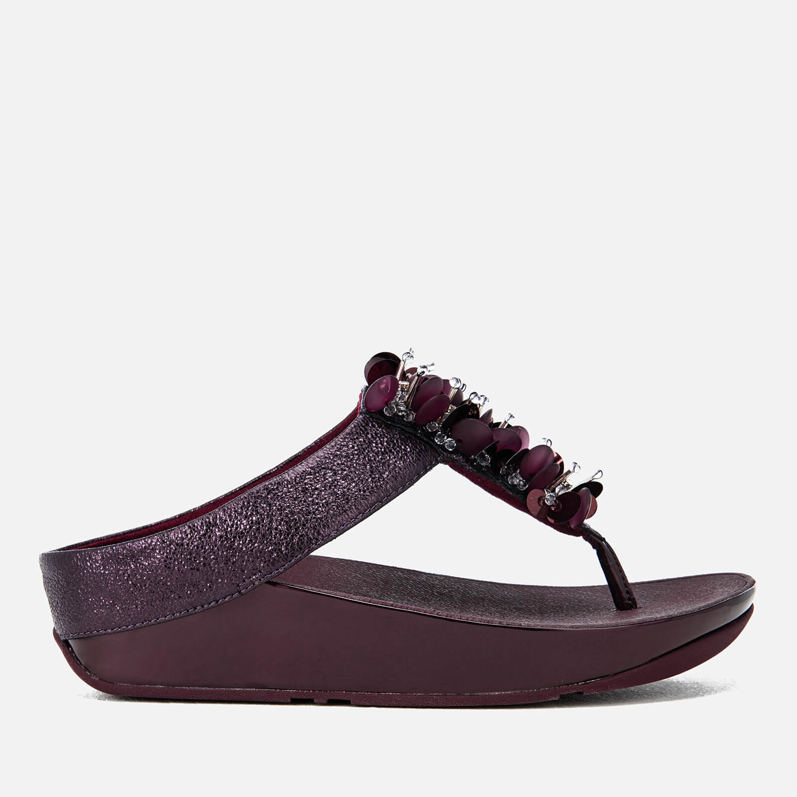daa776411 FitFlop Women s Boogaloo Toe-Post Sandals - Deep Plum Womens Footwear