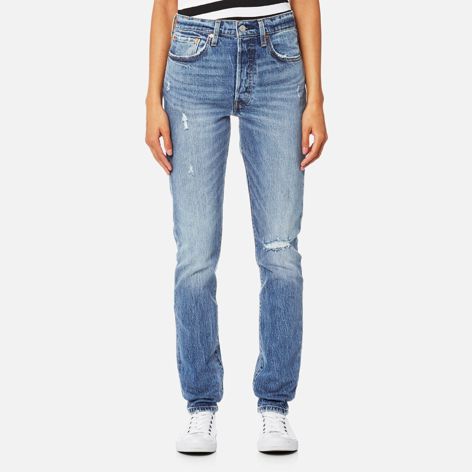 17231e61130cf Levi s Women s 501 Skinny Jeans - Post Modern Blues - Free UK Delivery over  £50