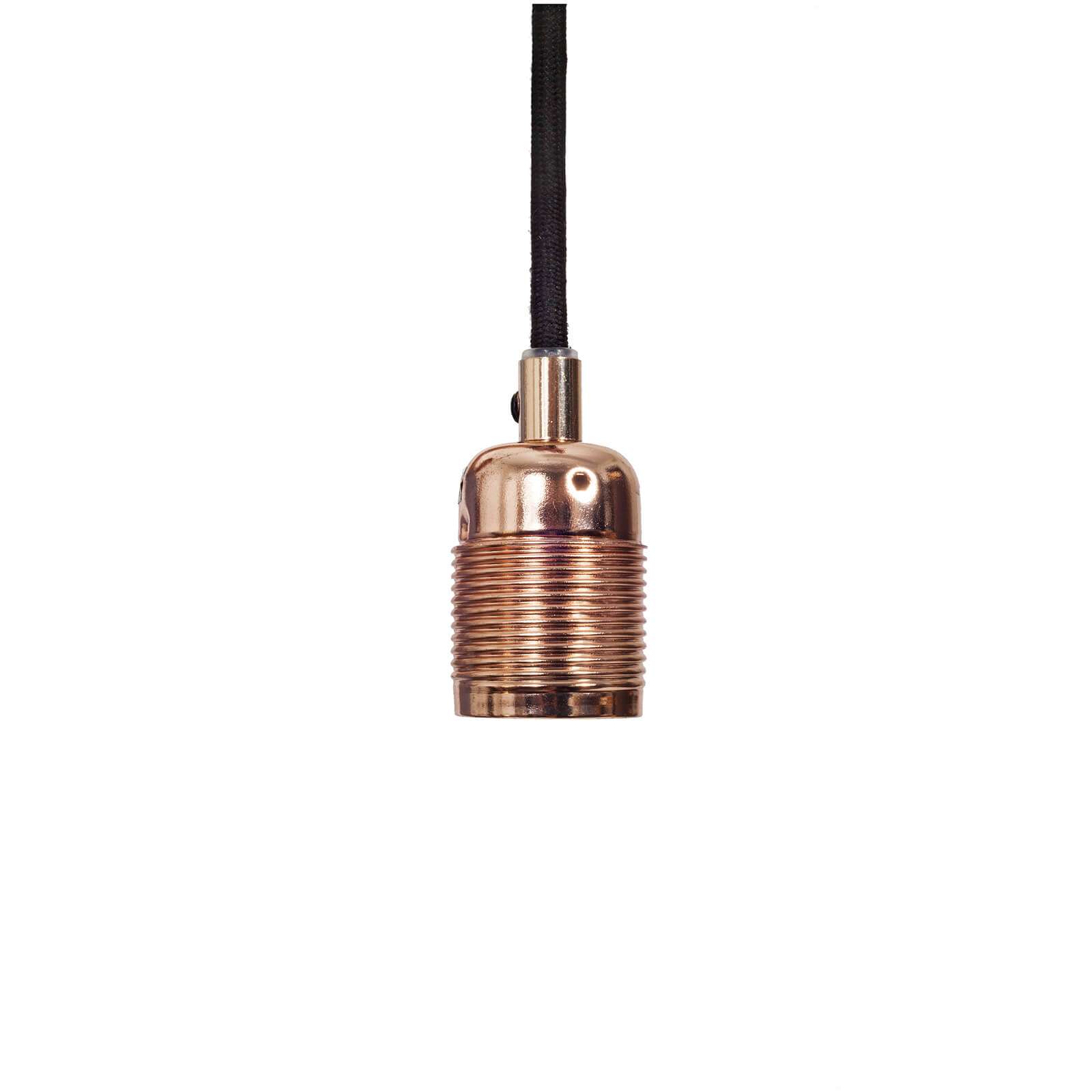 Frama E27 Pendant - Copper - Black Cable