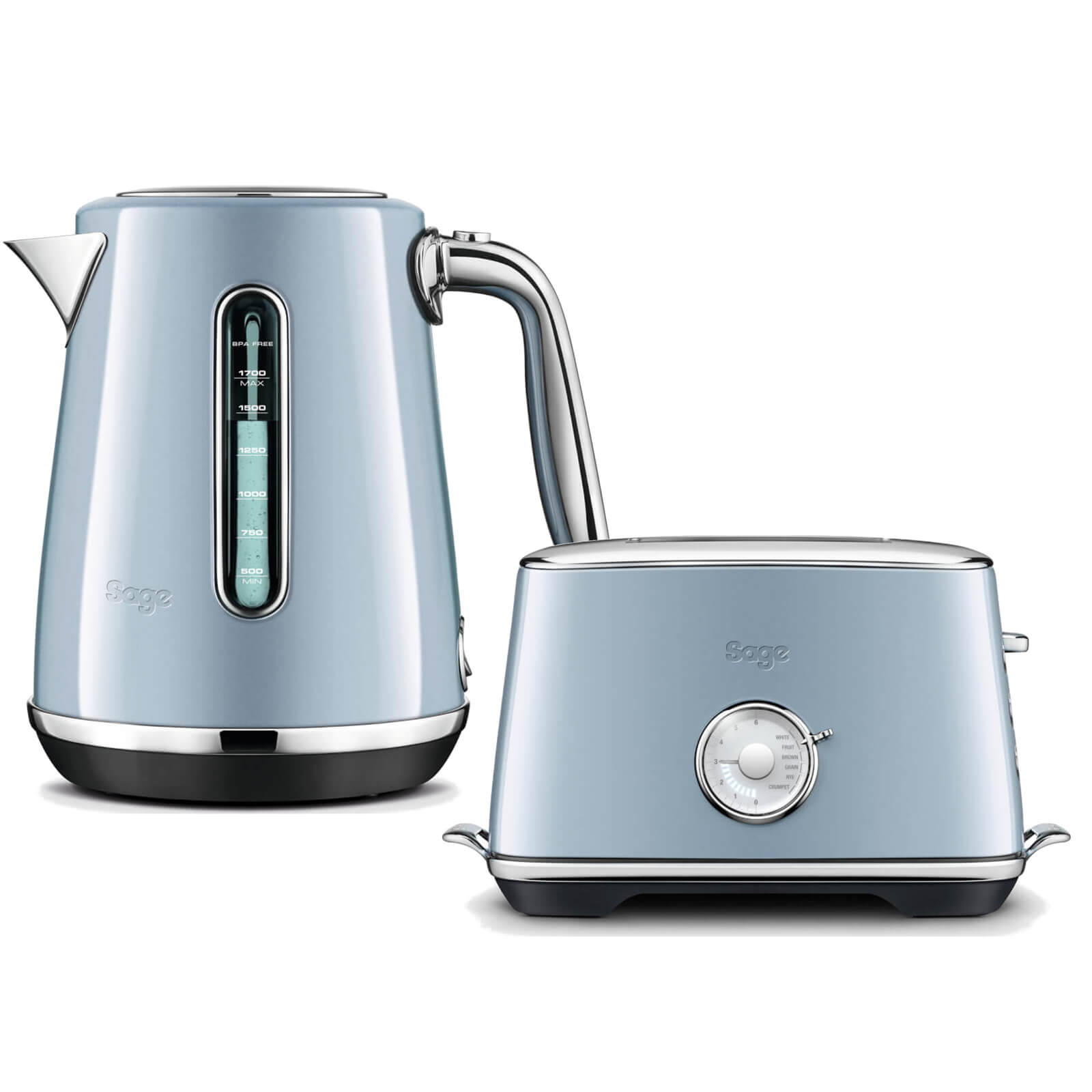 Sage by Heston Blumenthal BTA735BBG The Toast Select Luxe 2 Slice Toaster & Kettle - Blueberry Granita
