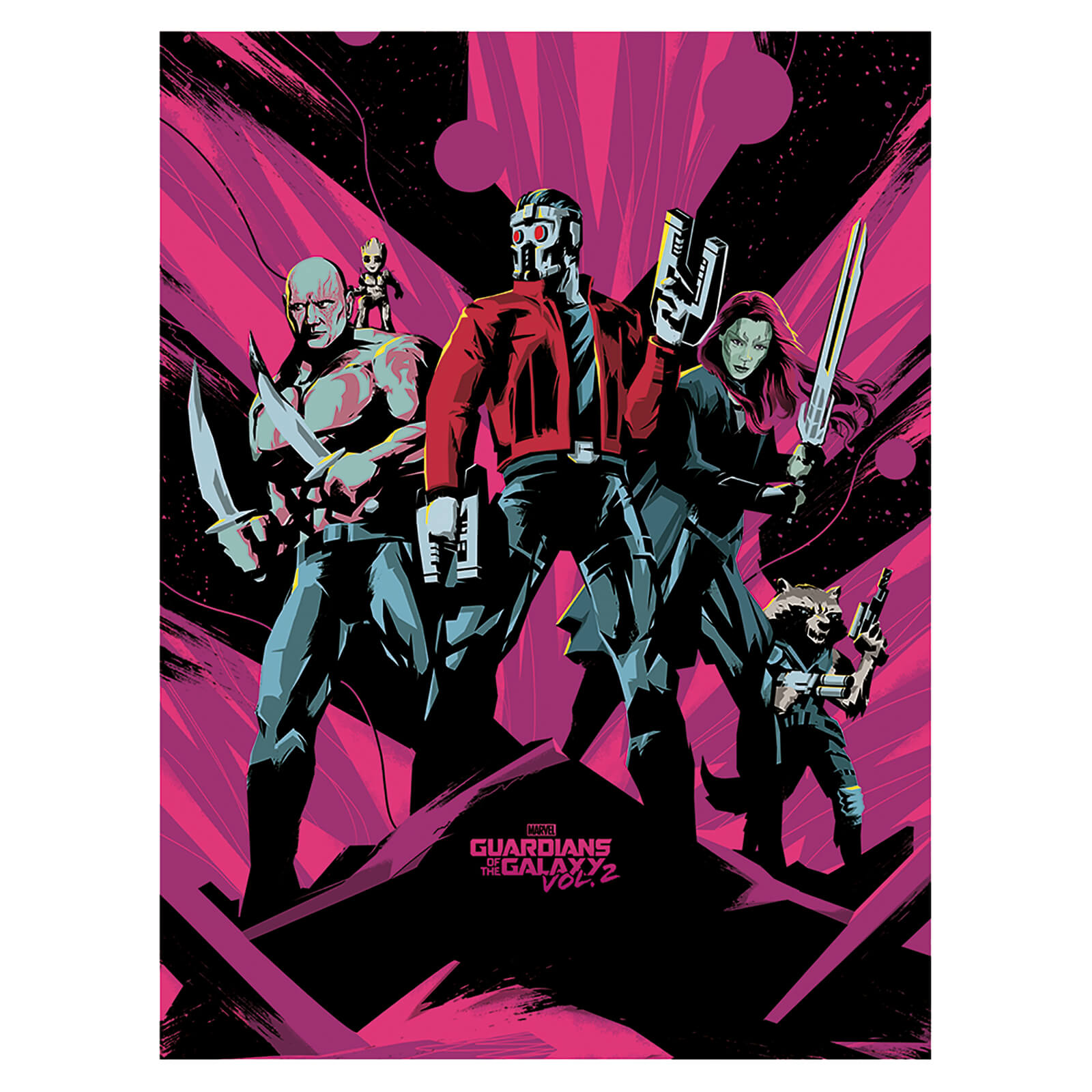 Guardians of the Galaxy Vol. 2 (Unite) 60 x 80cm Canvas Print