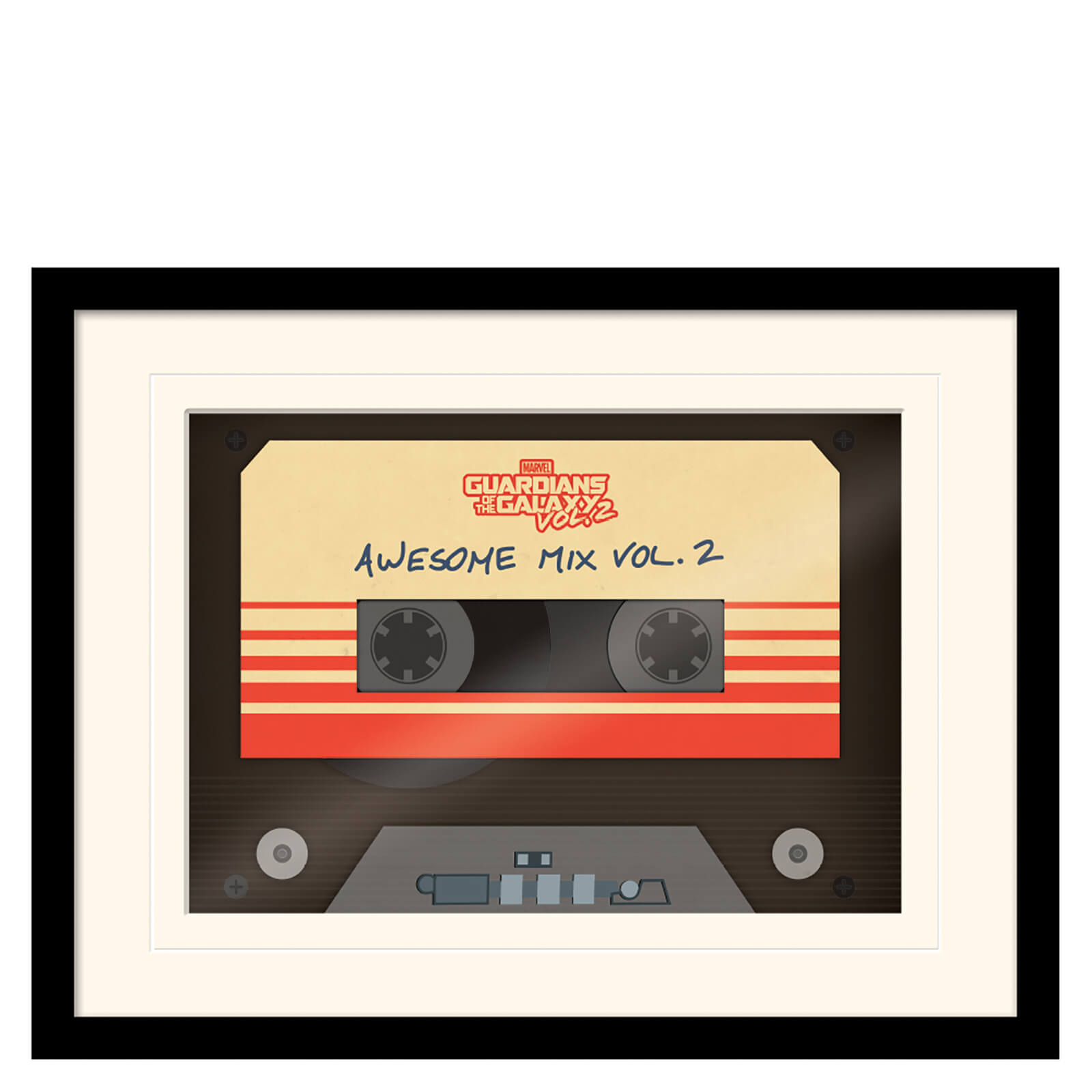 Guardians of the Galaxy Vol. 2 (Awesome Mix Vol. 2) Mounted & Framed 30 x 40cm Print