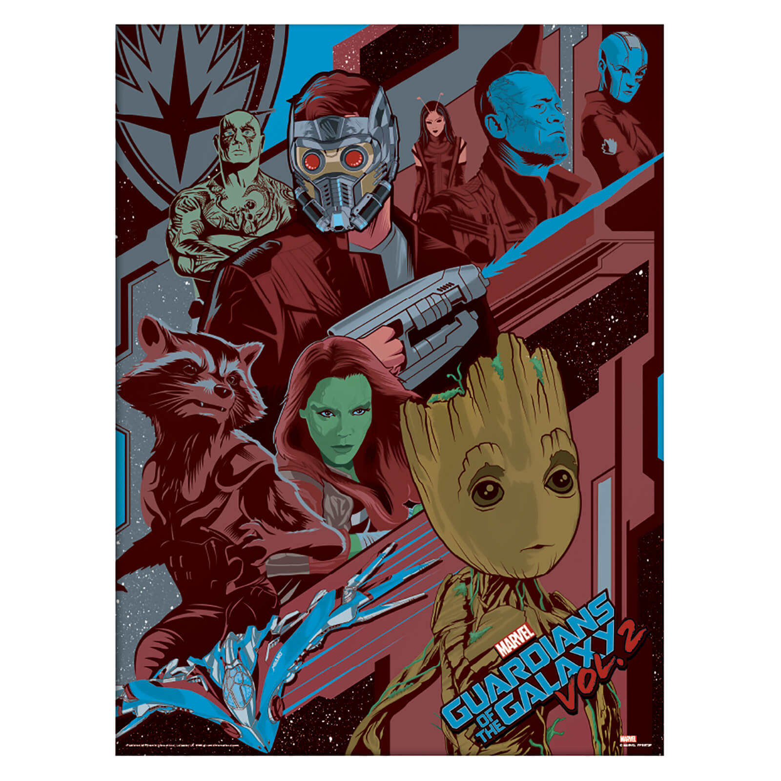 Guardians of the Galaxy Vol. 2 (Galactic) Framed 30 x 40cm Print